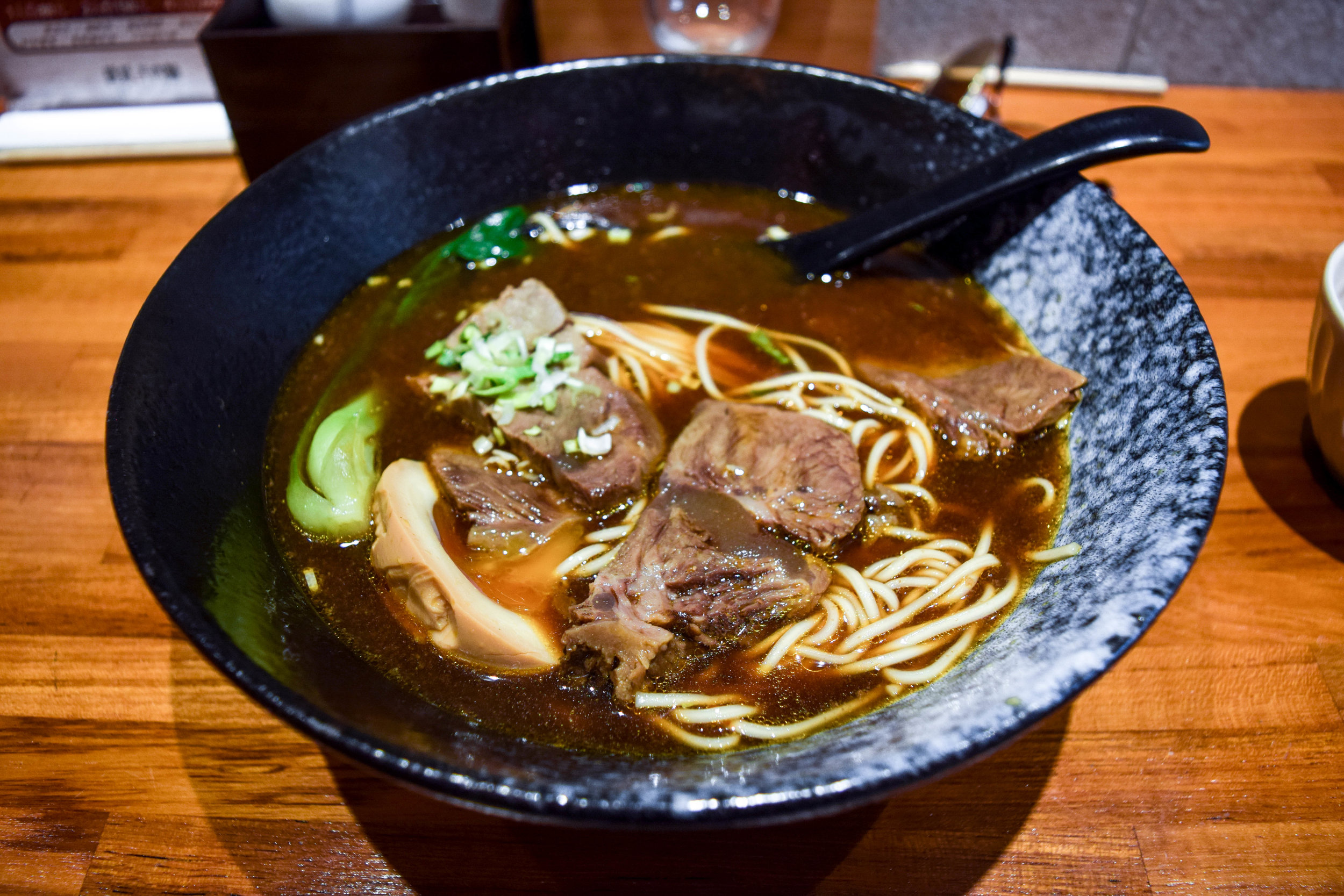 Beef noodles at C.E.O.