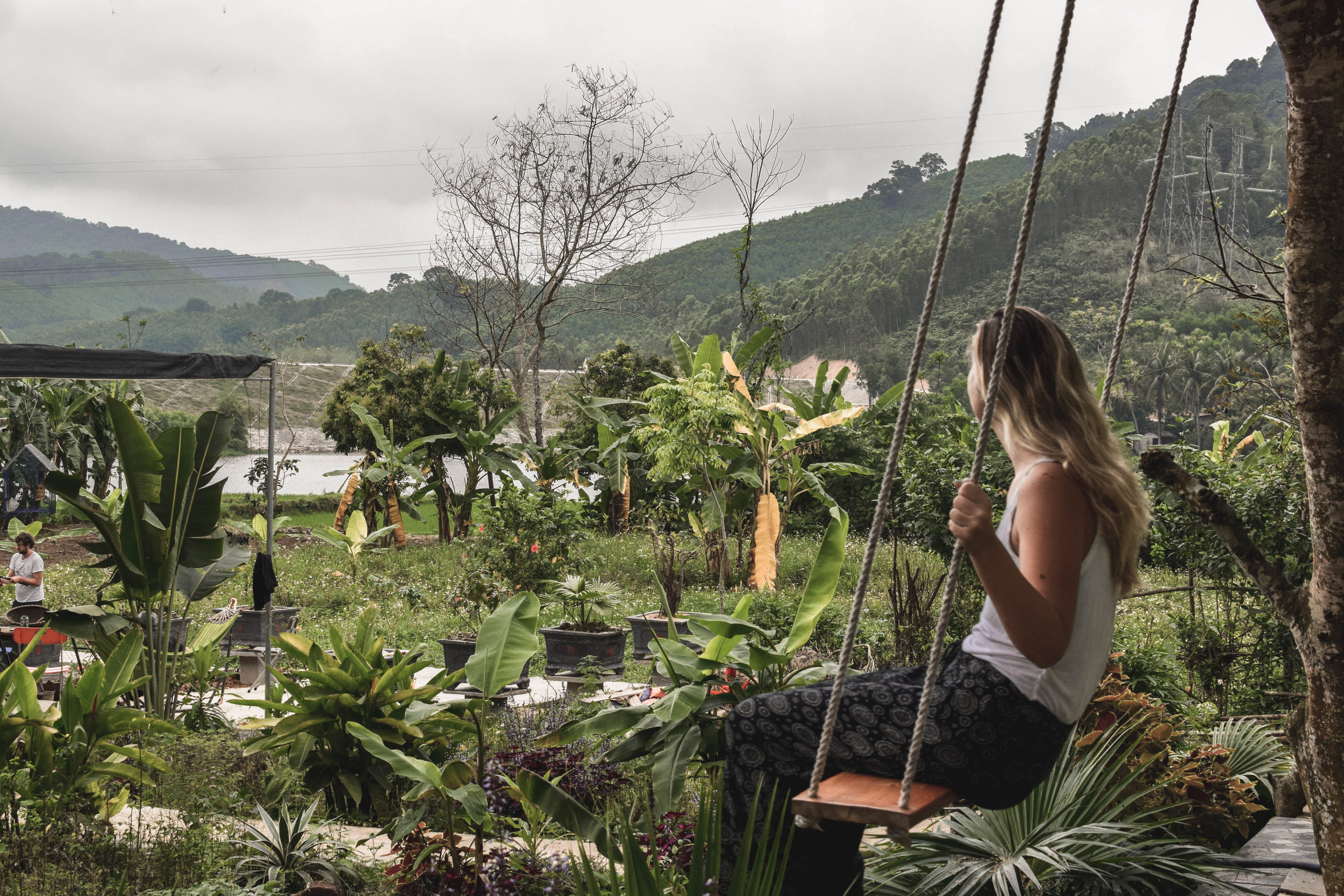 Vietnam is pretty. This is an Airbnb farmstay in rural Nghe An province.