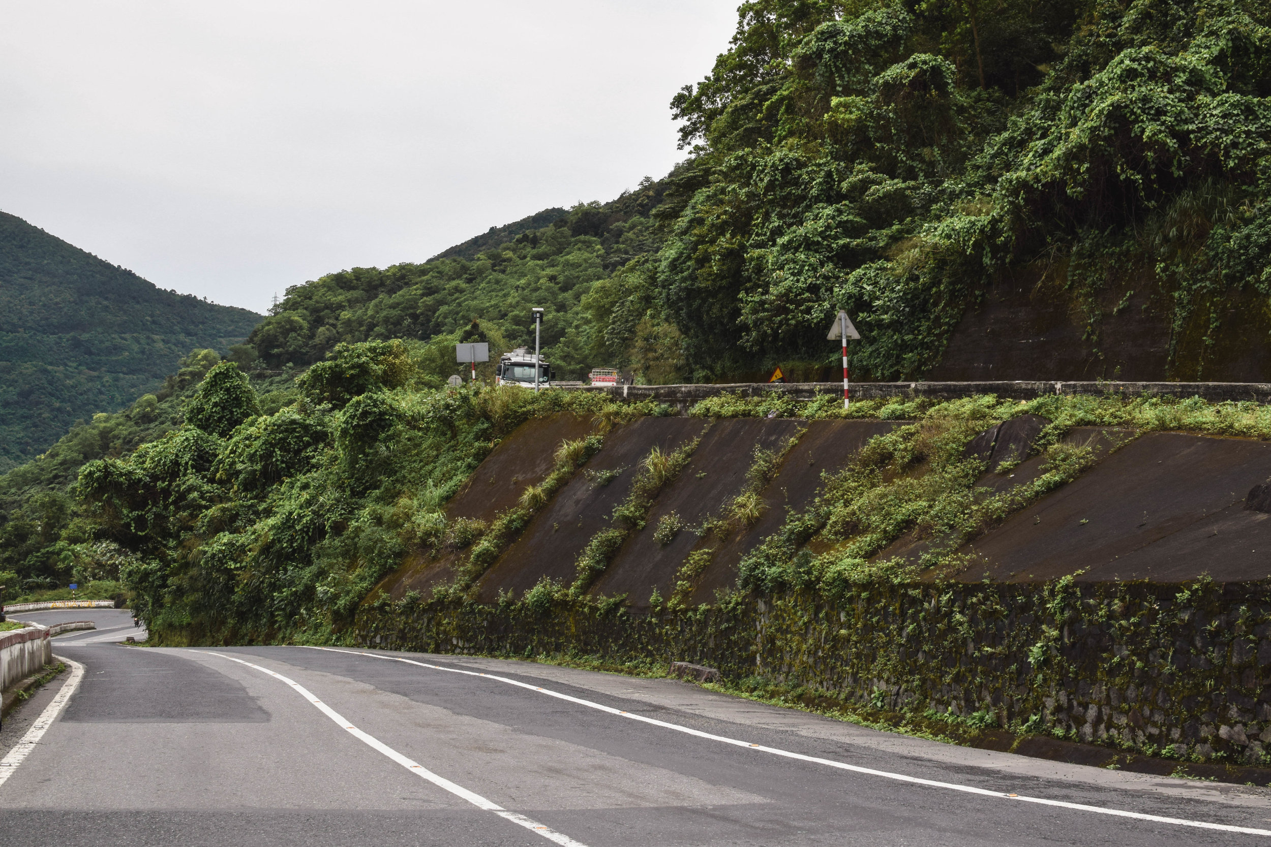 Approaching the Pass on the outskirts of Hue.