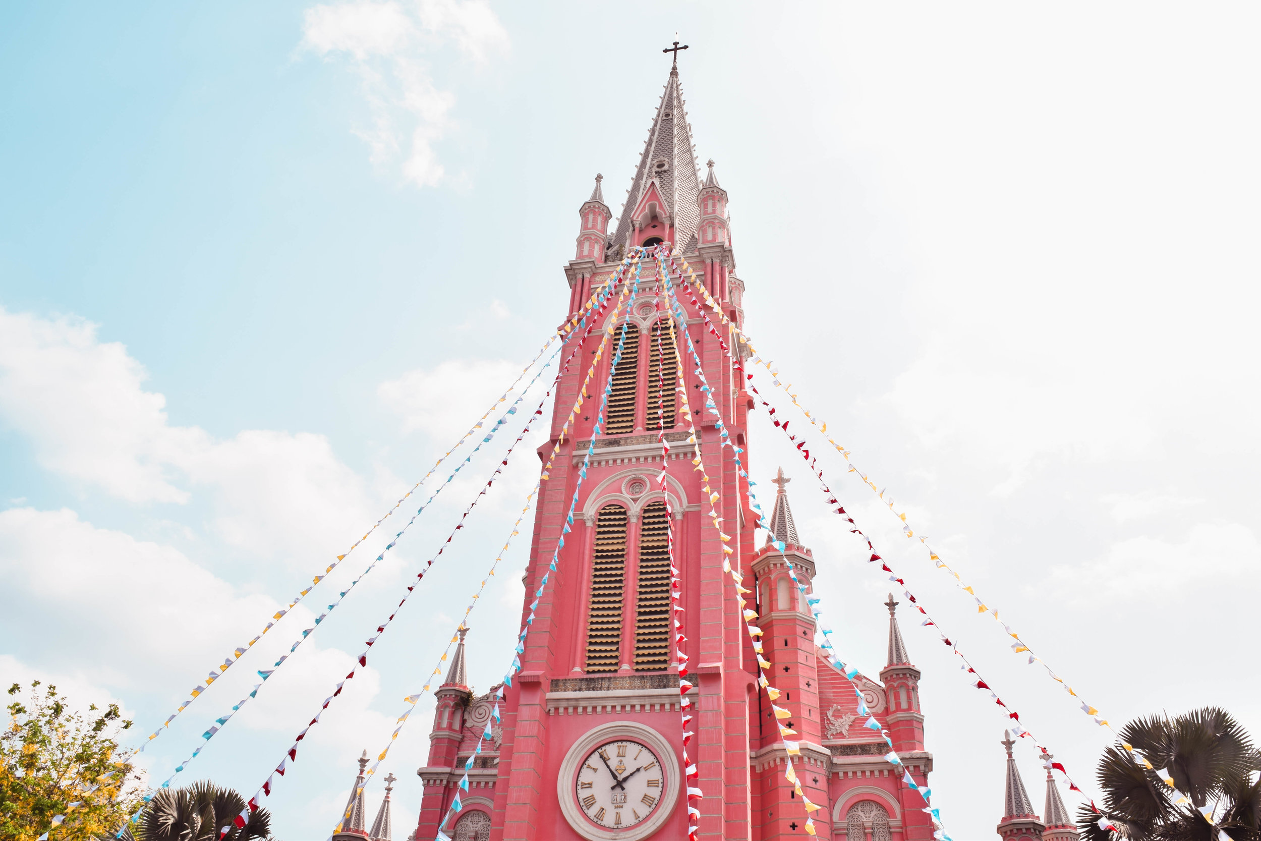 Tan Dinh Church, Saigon's infamous pink cathedral and one of the coolest structures in town.