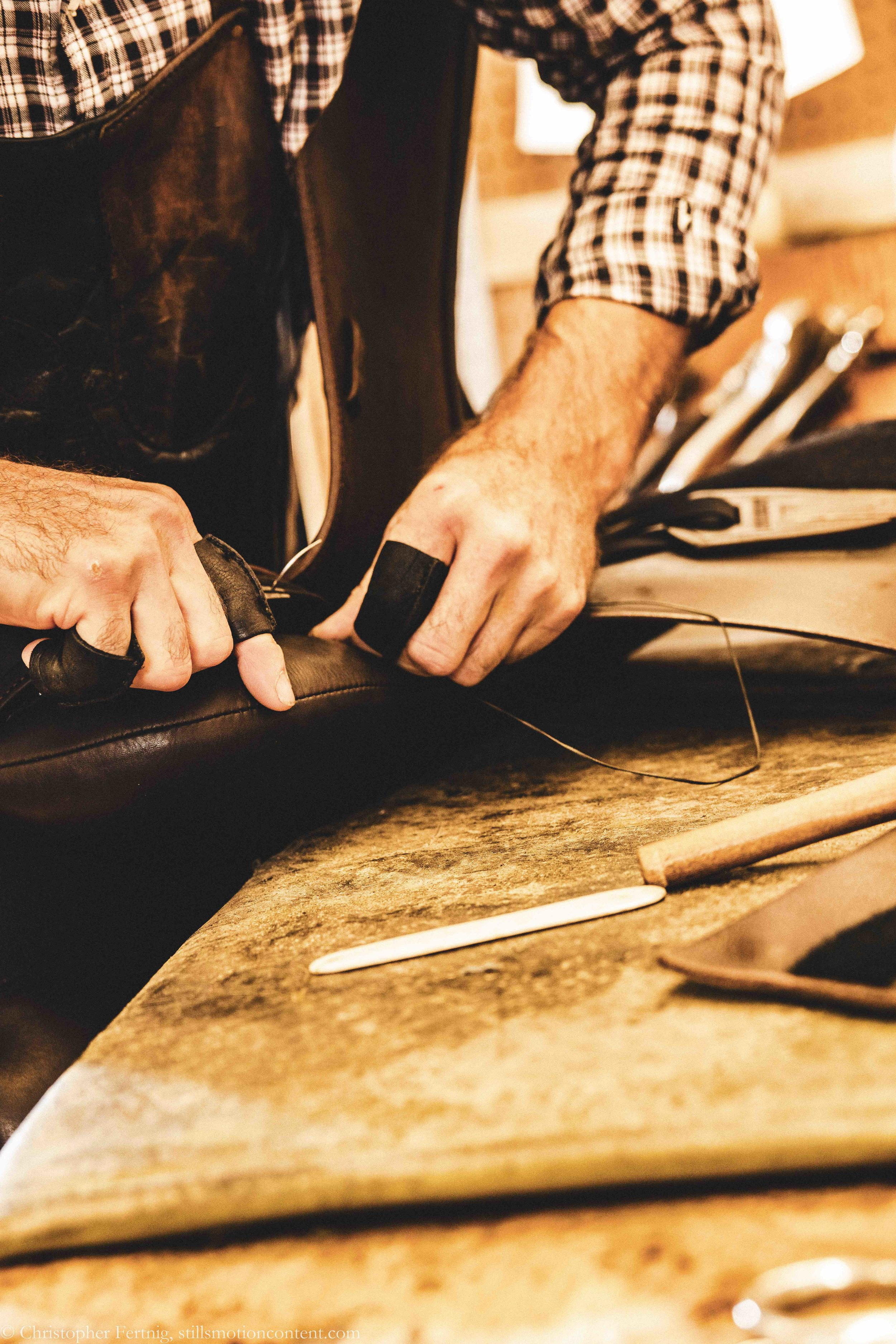 Saddle repair shop