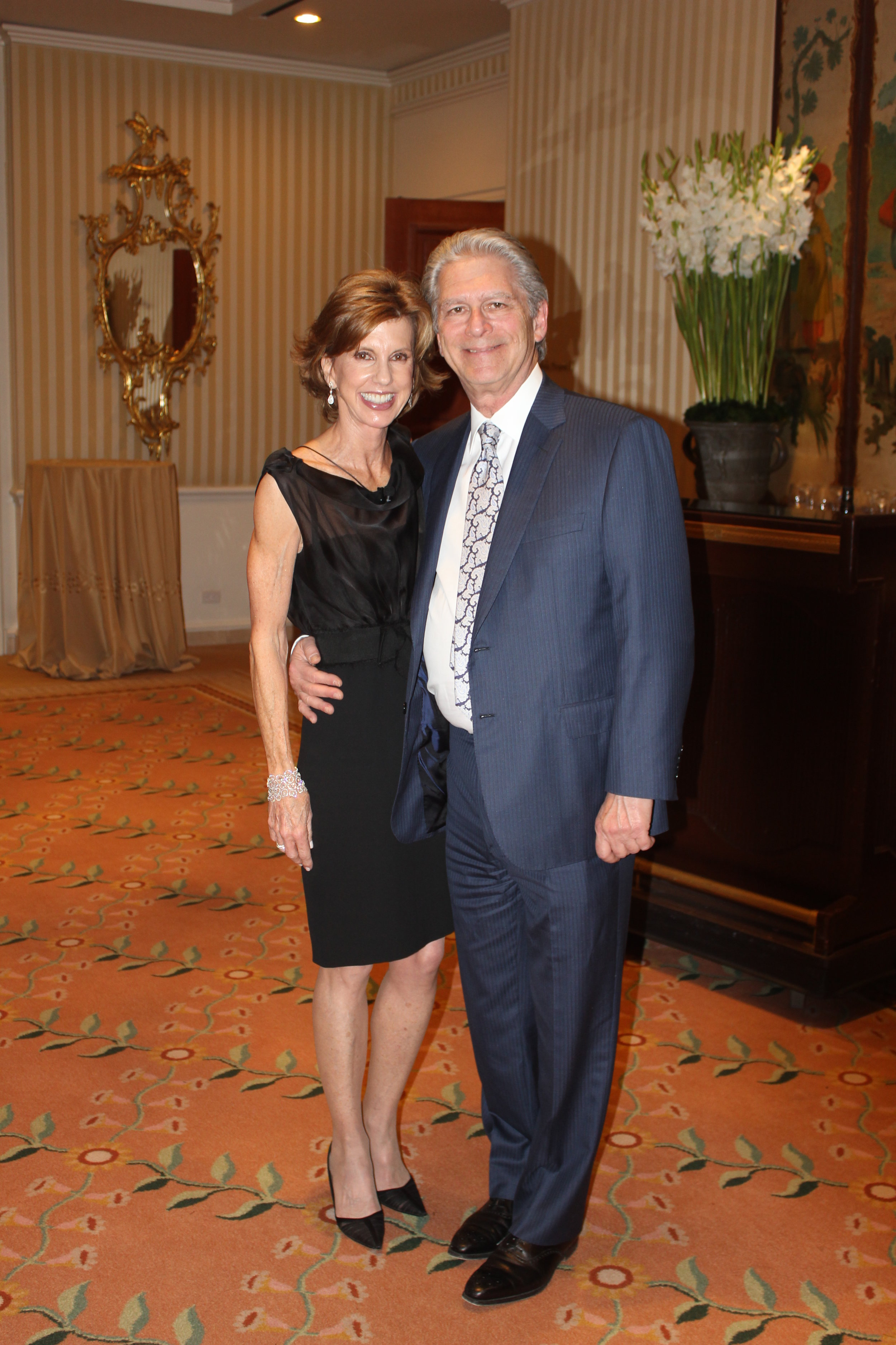 Laurie MacCaskill & Dr. Isacoff at a PanCAN Research Award Dinner in Laurie's Honor