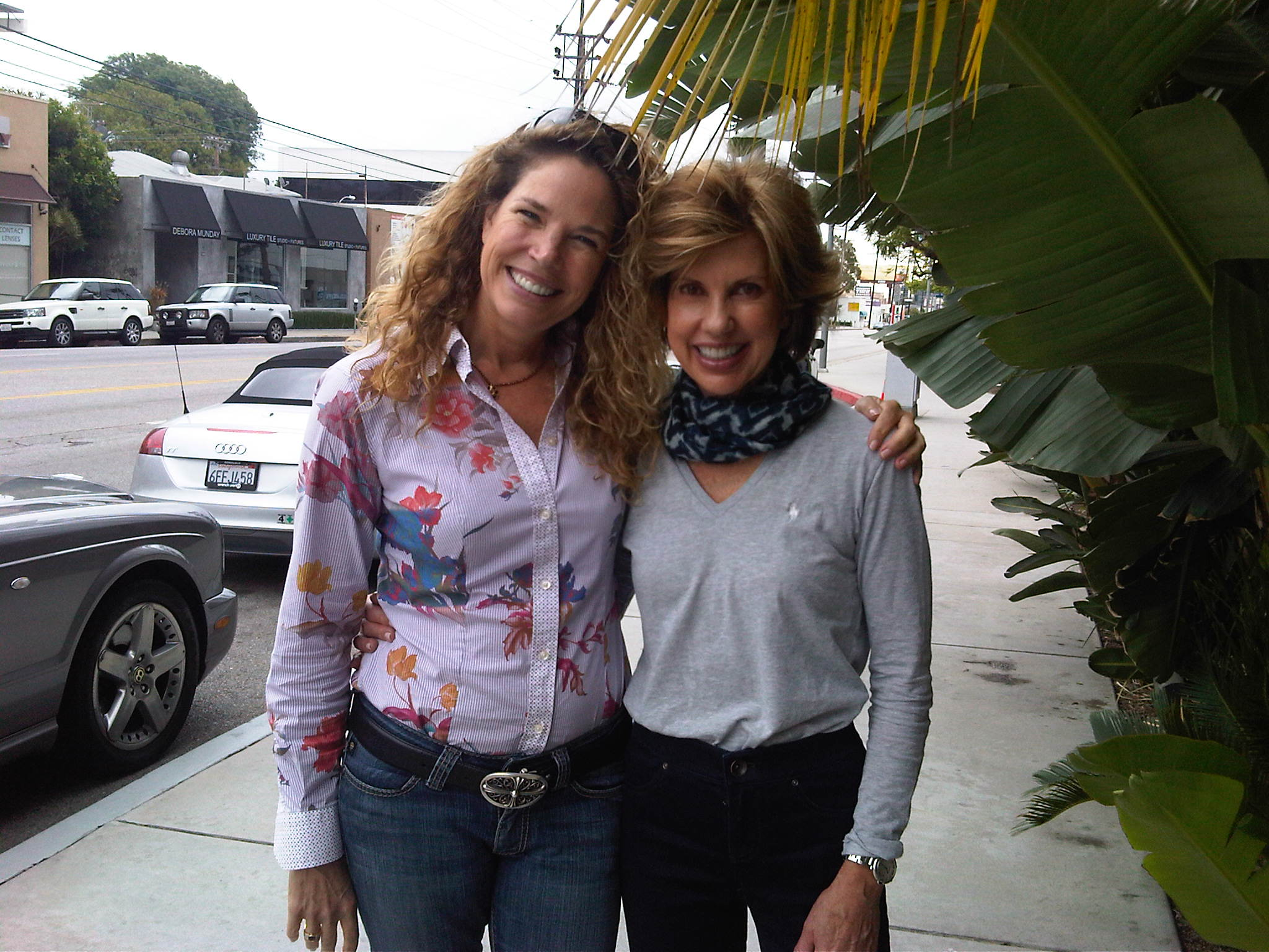 My dear friend, Tina Staley and I in Los Angeles
