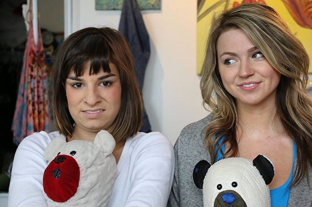 DAY 2 ⭐️ #waybackwednesday with a photo from our first shoot as Amber and Terri in 2015 🍉 did you know that we had a whole series of Amber and Terri YouTube videos that we haphazardly filmed ourselves ? Thank goodness @costal.productions agreed to shoot for us 😅. . . #coolgirlswebseries