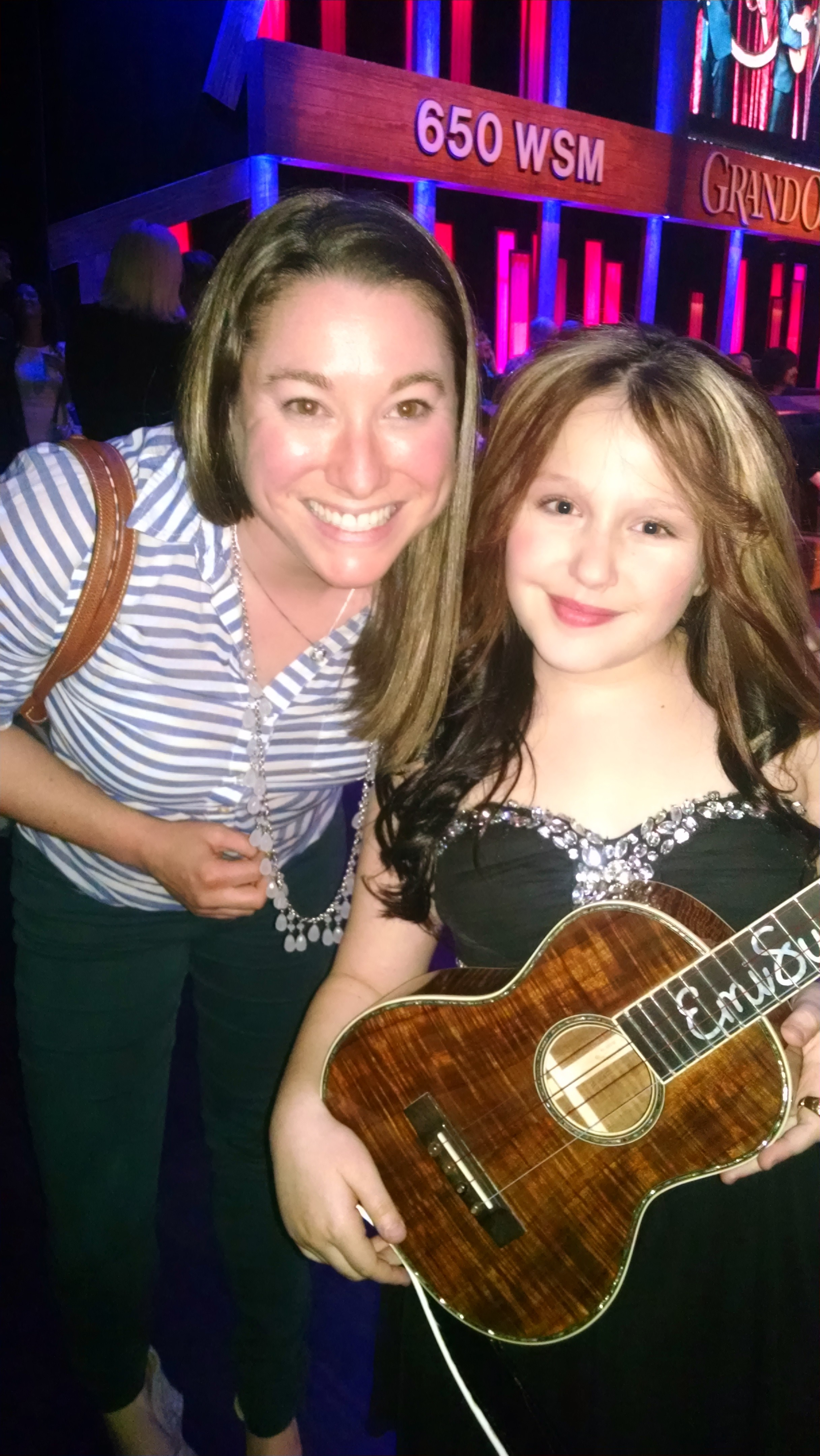 Backstage with EmiSunshine before she plays her EJ Henderson #30 on the Grand Ole Opry!