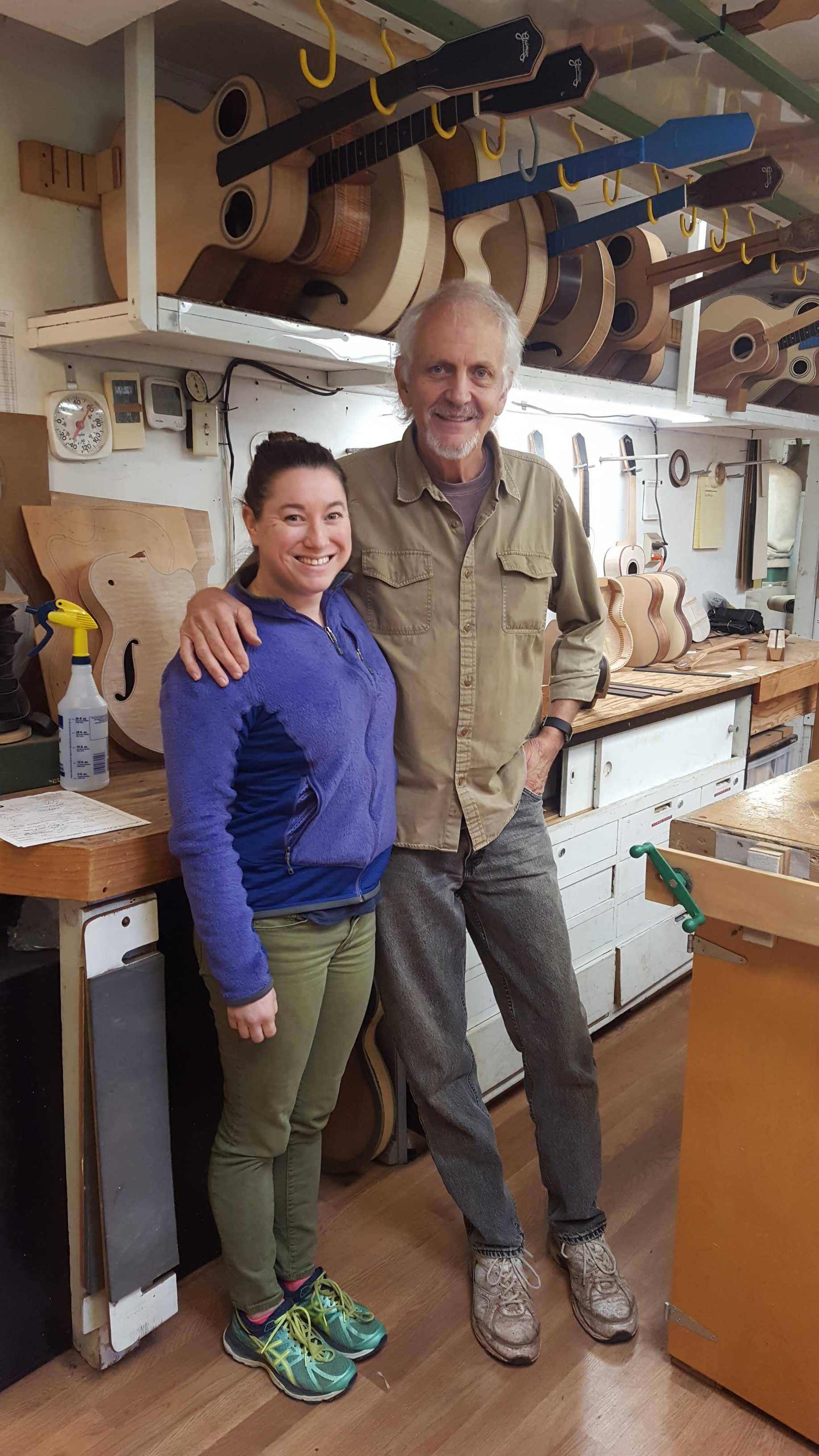 Visiting Steve Grimes in his shop on Maui.