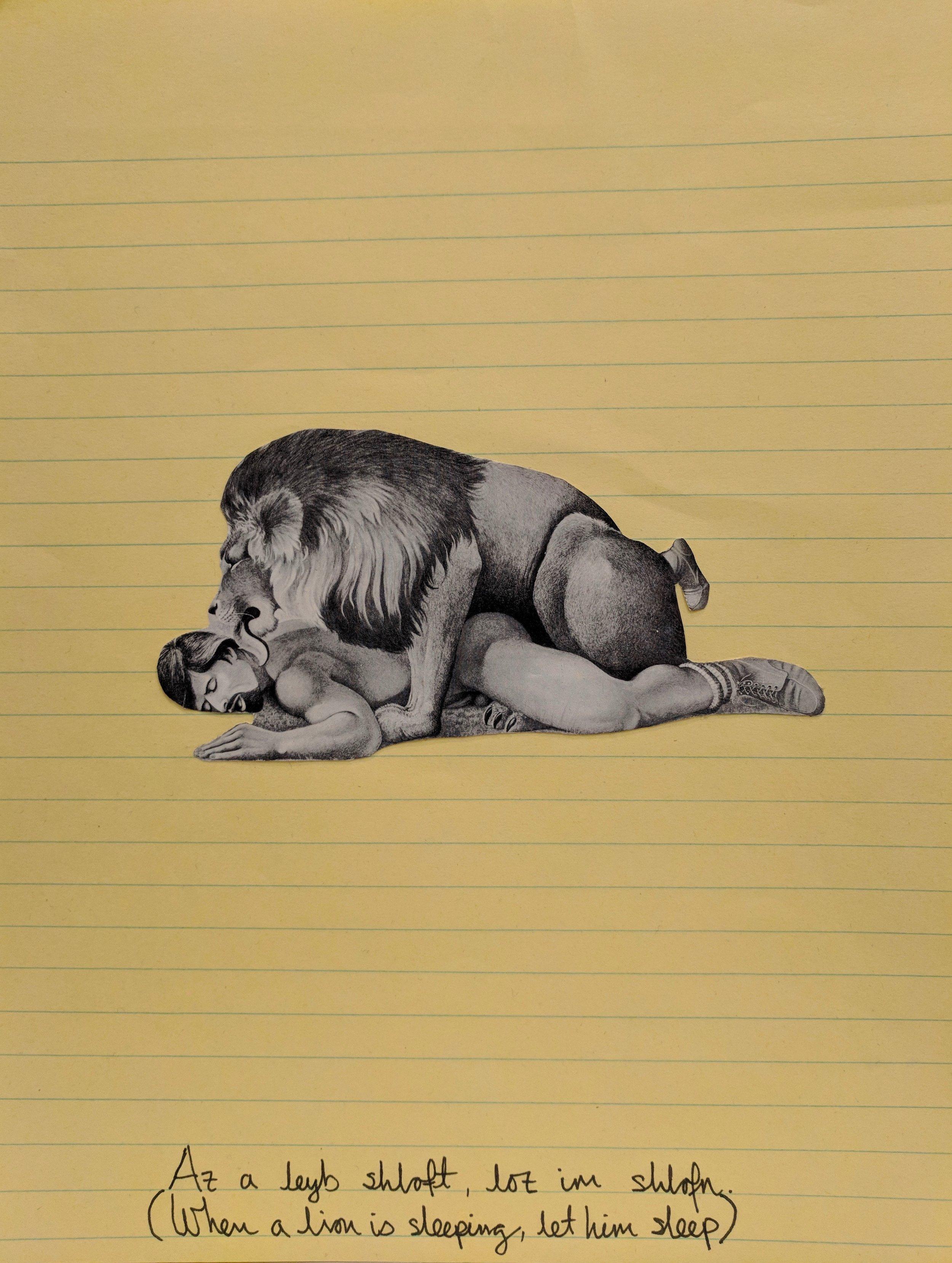 Az a leyb shloft, loz im shlofn (When a lion is sleeping, let him sleep)