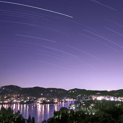 Venus kissing the sky over Lake Arrowhead