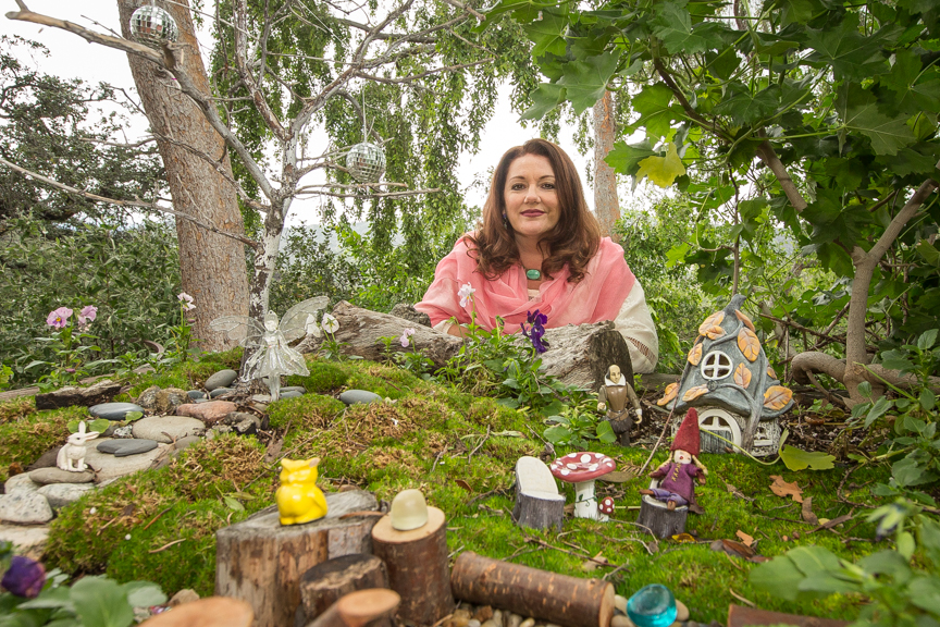 Michele's fairy village acts as a muse for little Shakespeare, just outside his humble abode.