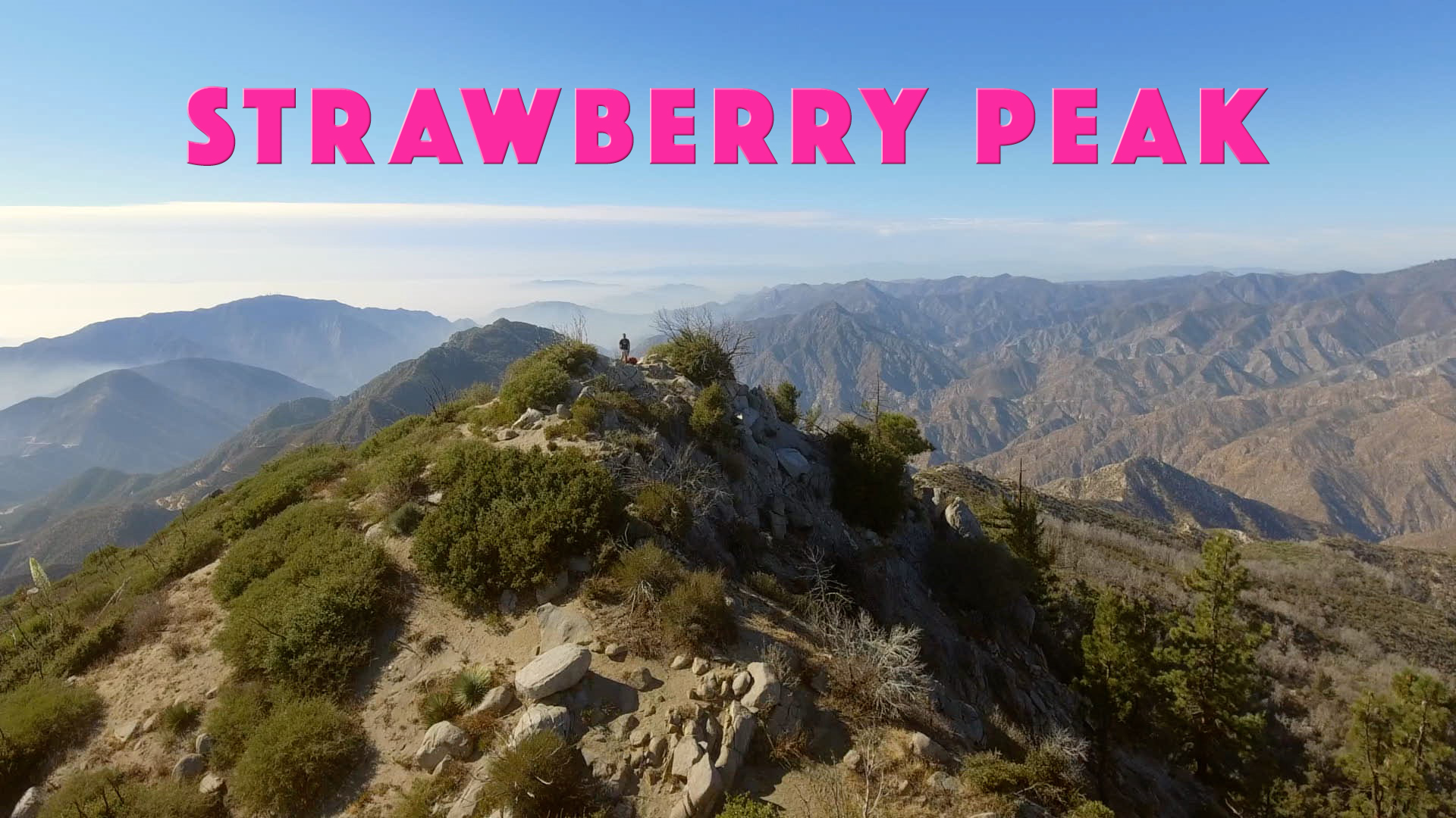 Hiking to the top of Strawberry Peak