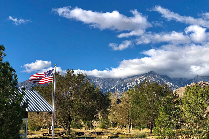 The view from the Visitor Center of the eastern edge of Sequoia National Park.