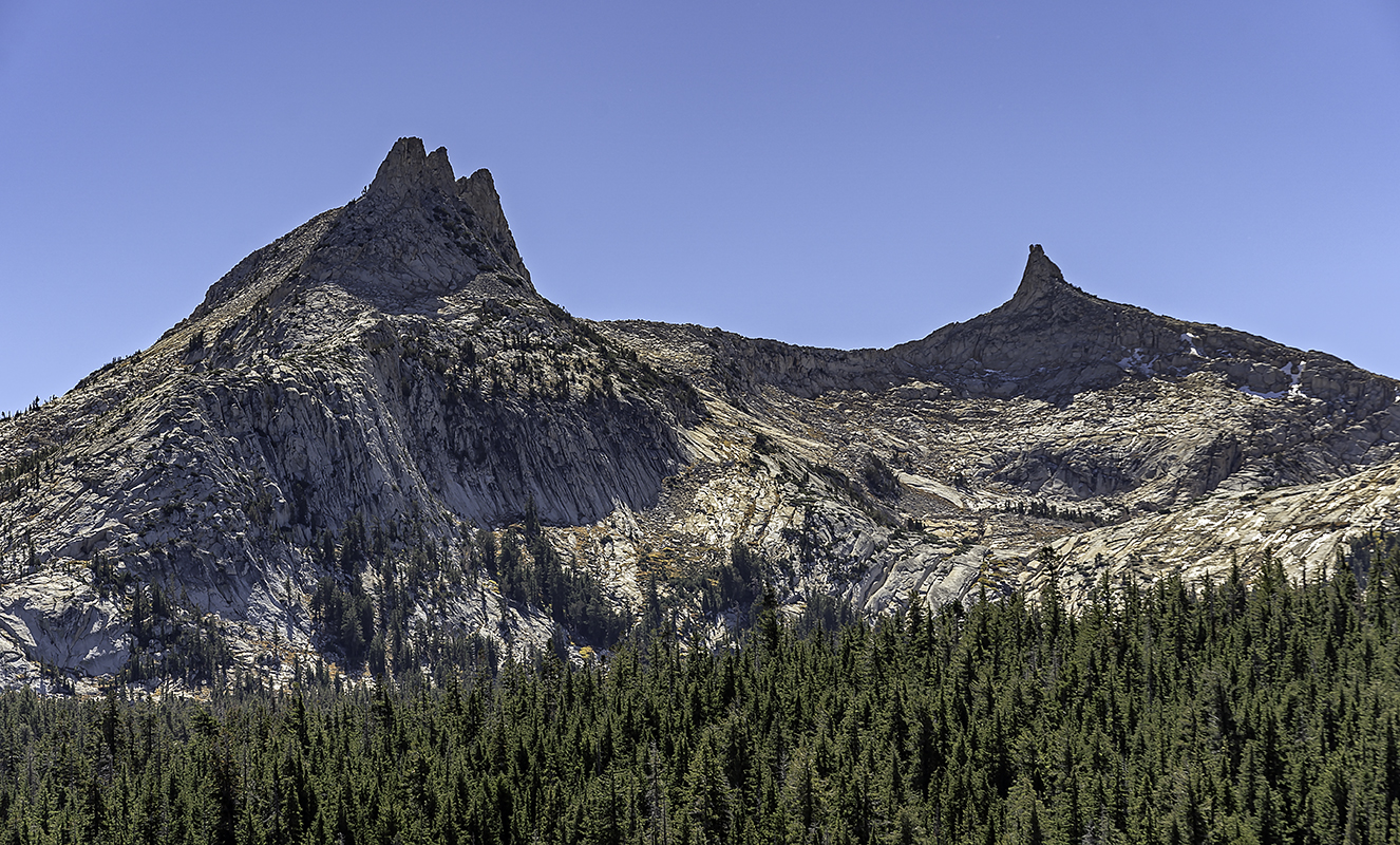 Cathedral Peaks, from Tuolumne Meadows.