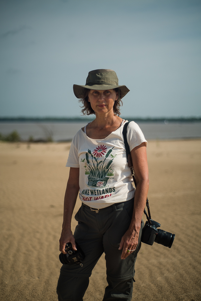 Michel Varisco is a multifaceted American artist, engaged deeply with the relationship between man and nature. She is currently working on public art in New Orleans, where she resides, and here she is pictured on Choctaw Island, just above Arkansas City, Arkansas.