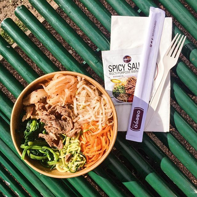 Bibimbap for lunch anyone? 😍😍 . . . #foodporn #food #koreanfood #bibimbap #bibimbapbowl #oseyo #yum #zutter #lunch