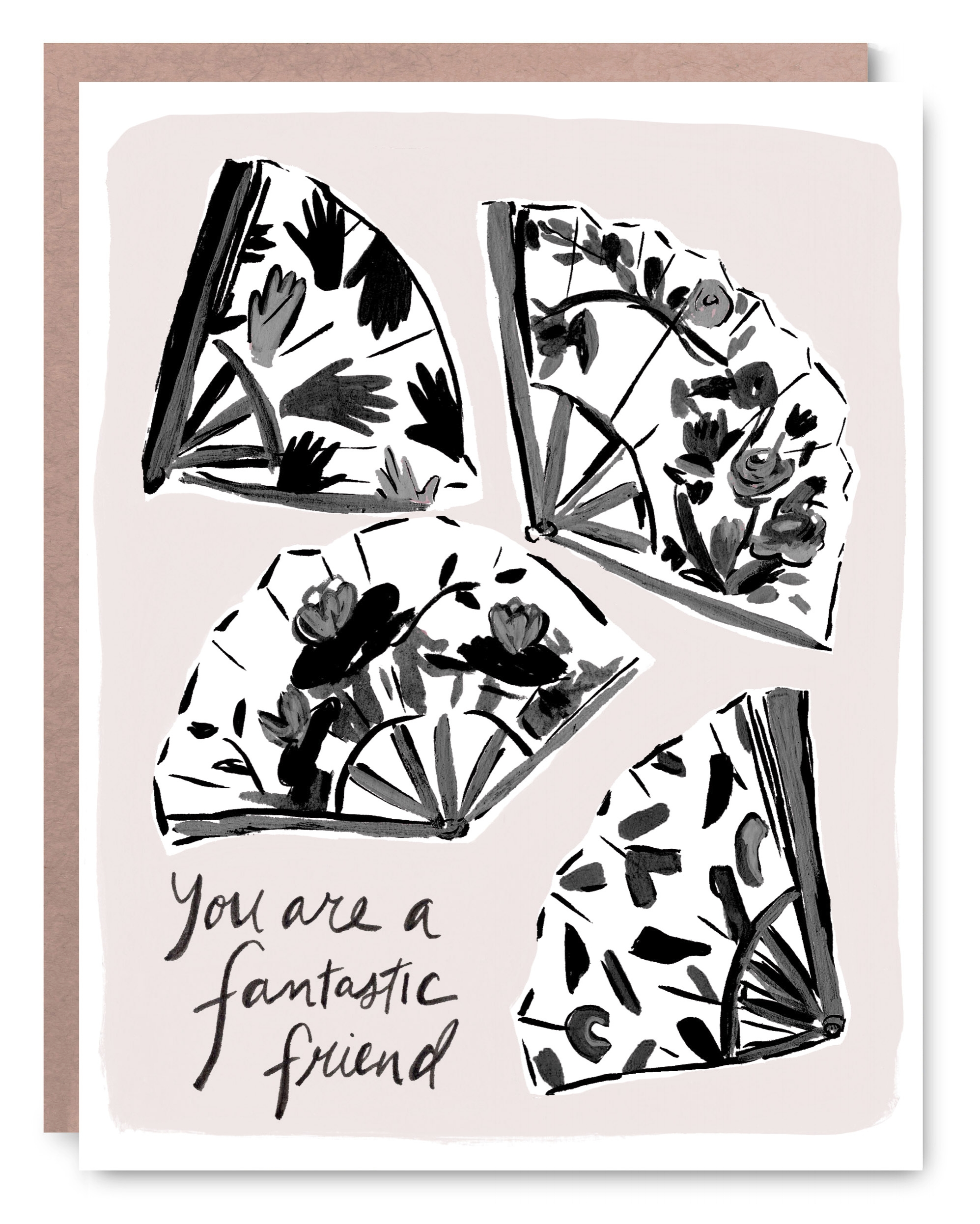 Fantastic Friend - Blank inside - 4.25 x 5.5""