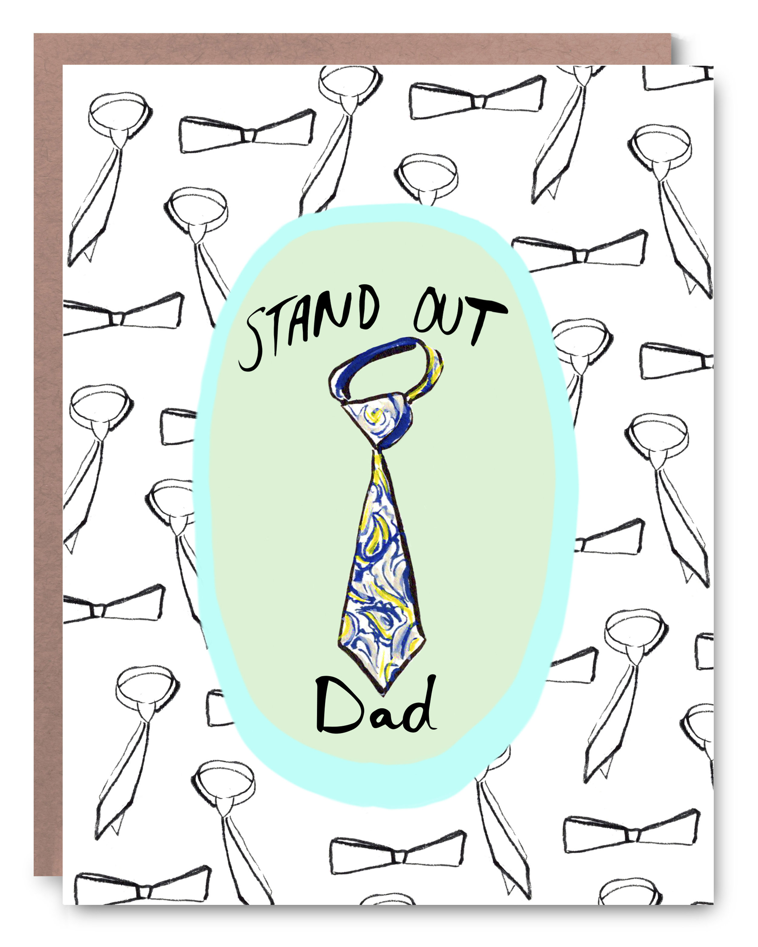 """Stand Out Dad - Blank inside - 4.25 x 5.5"""""""