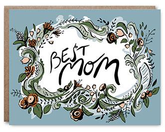 Best Mom - Blank inside - 4.25 x 5.5