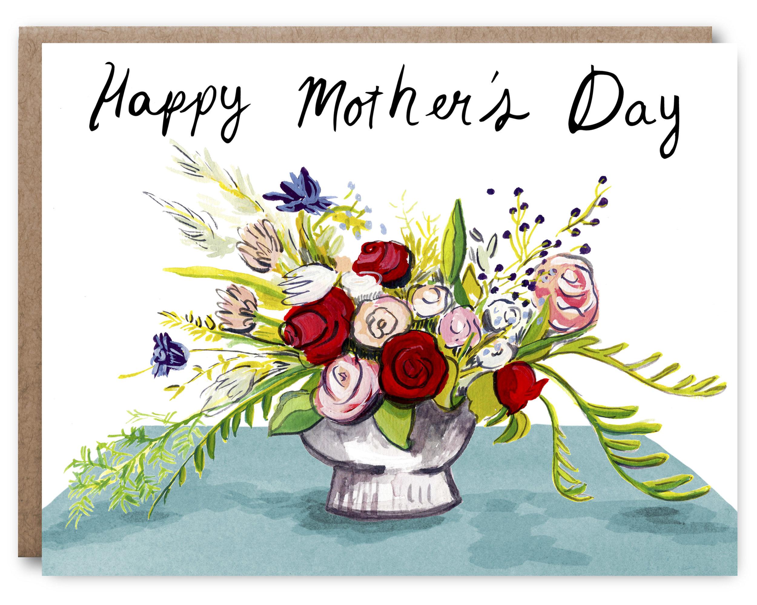 Mothers Day Bouquet - Blank inside - 4.25 x 5.5