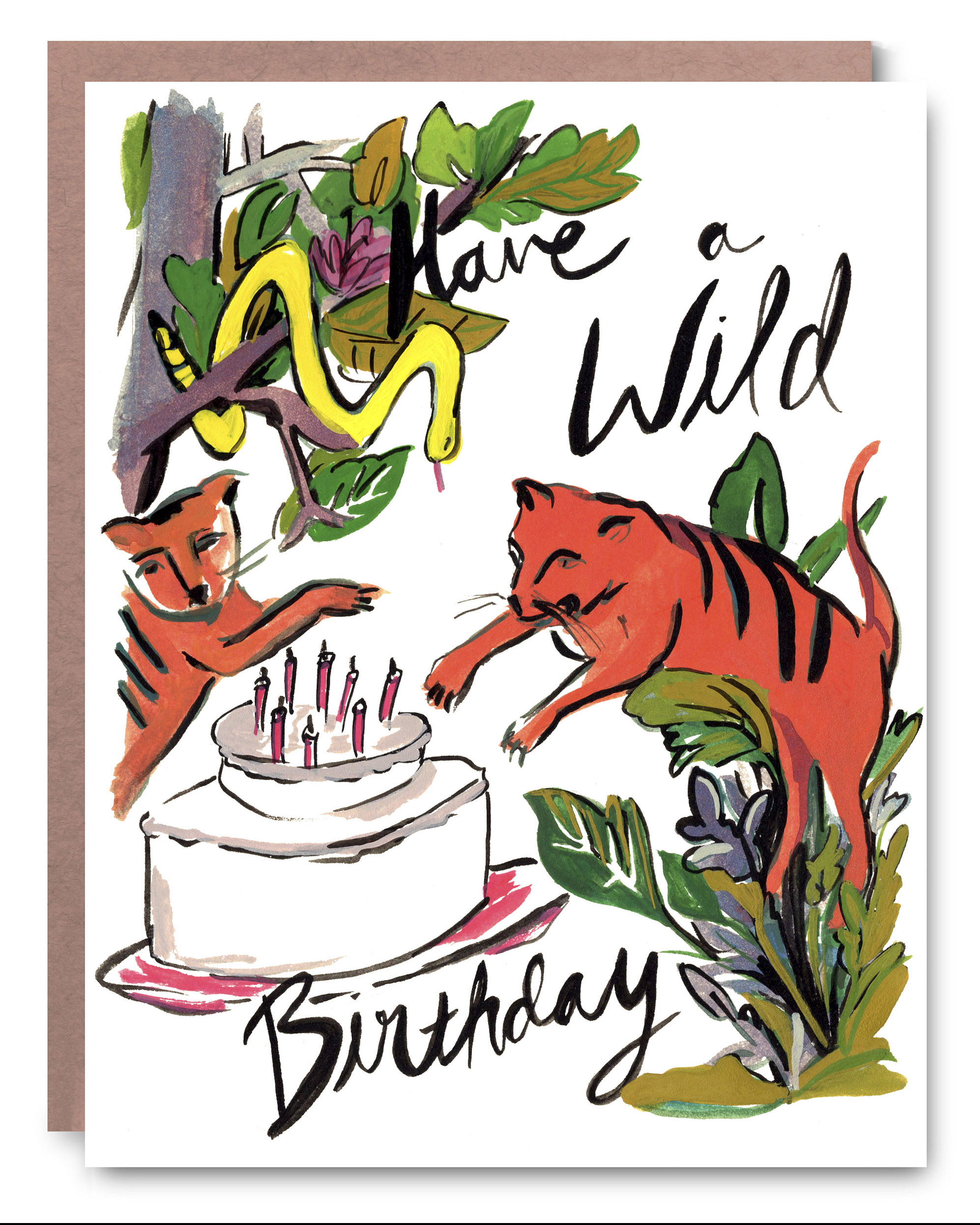 Wild Birthday - Blank inside - 4.25 x 5.5""