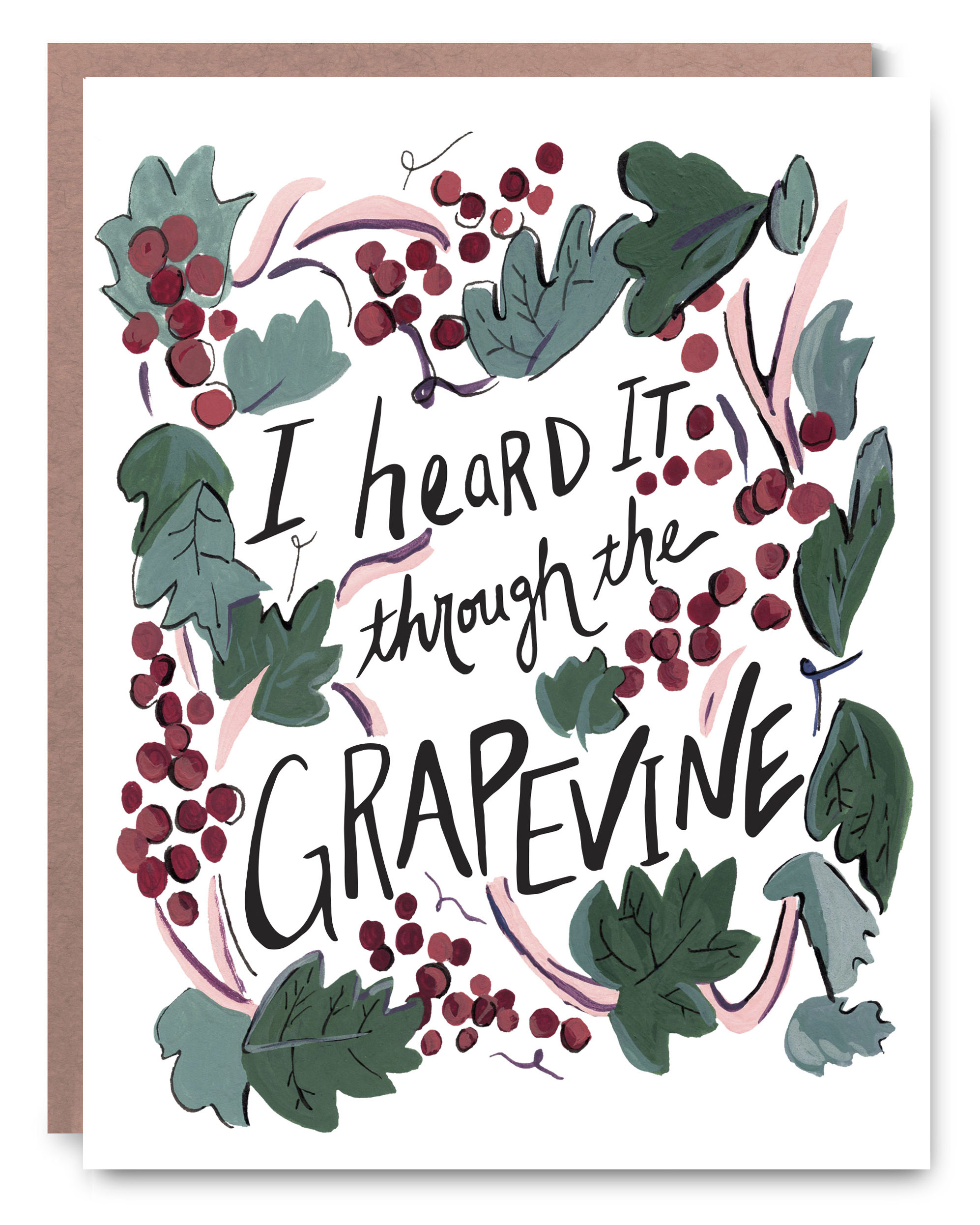 "Grapevine - Blank inside - 4.25 x 5.5"""