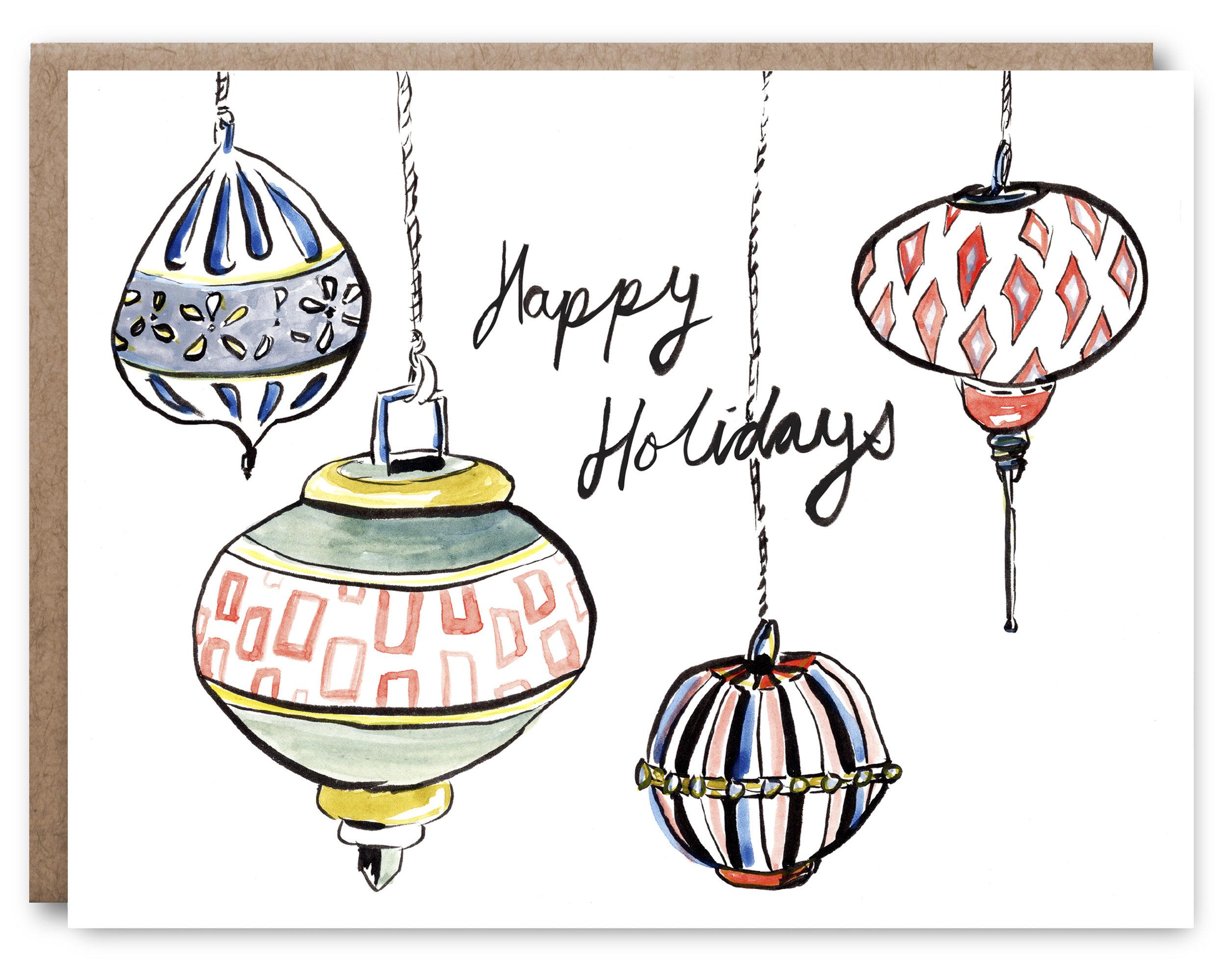 Happy Holidays Blank inside - 4.25 x 5.5