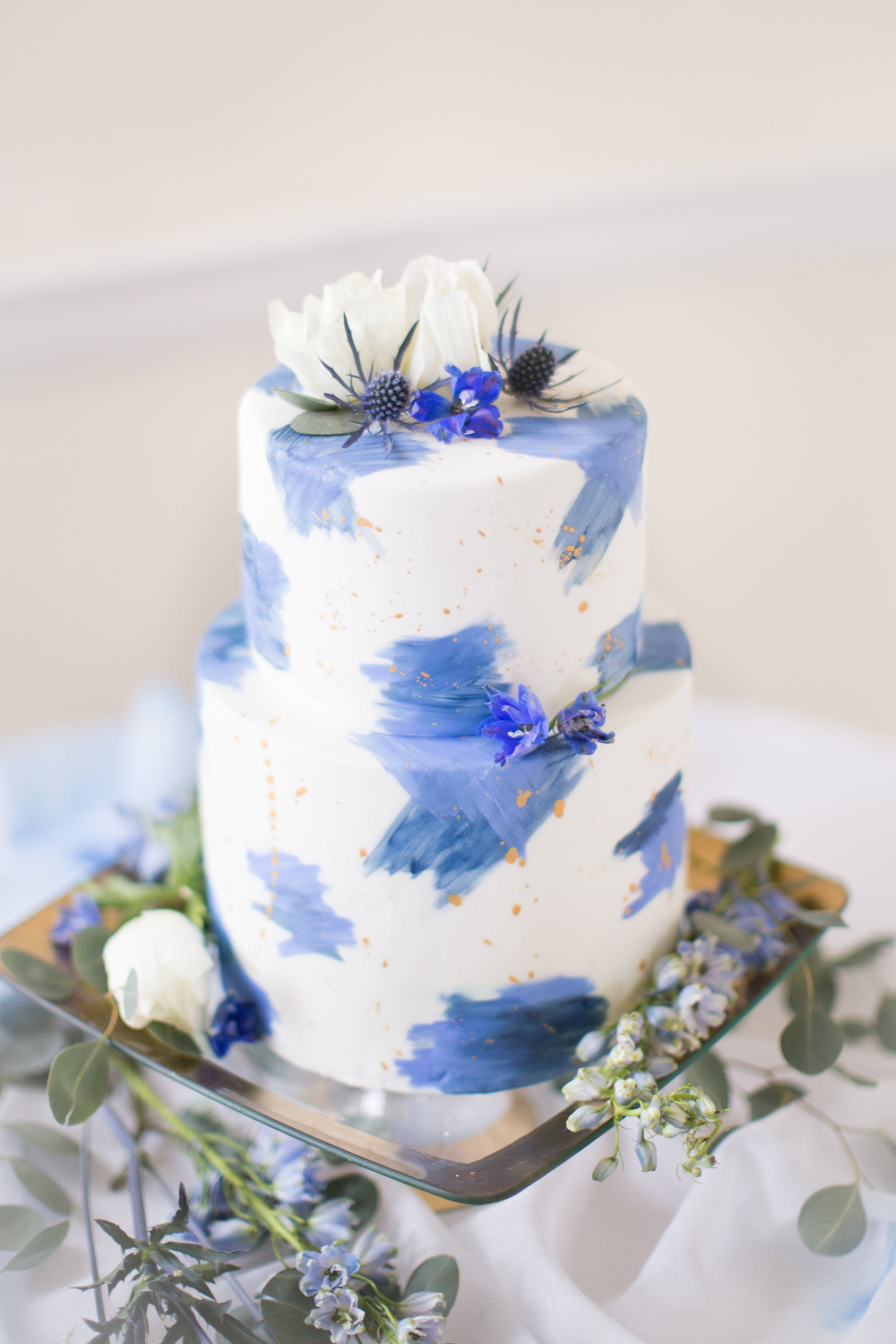 Winter Elopement Wedding Cake
