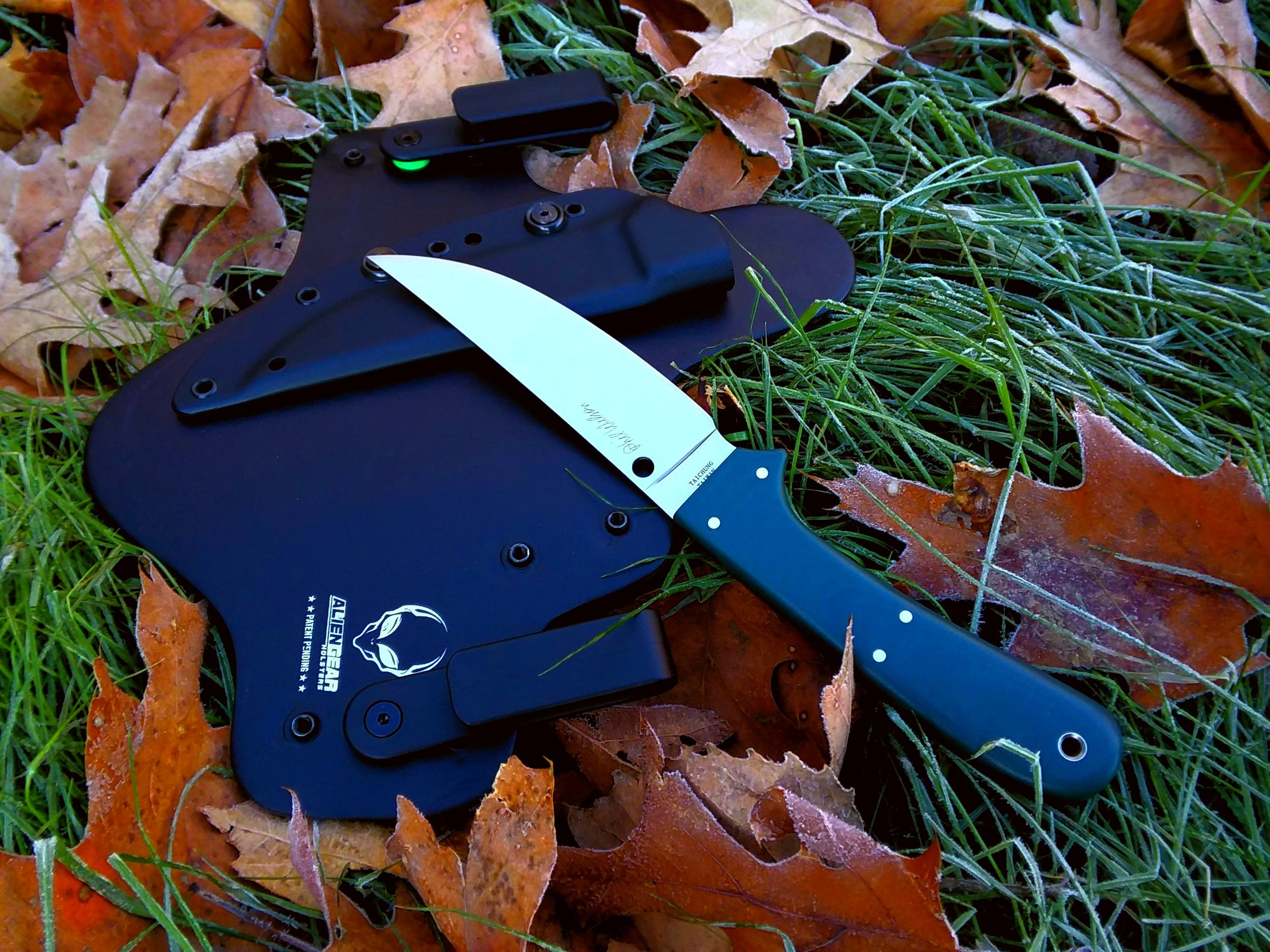 Spyderco South Fork w/ customized IWB carry solution.