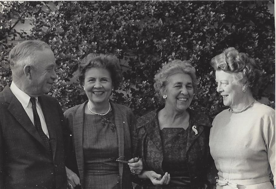 Howard Rouse, party guest, Honeywood Rouse and Howard's sister Dora Lisle, 1963