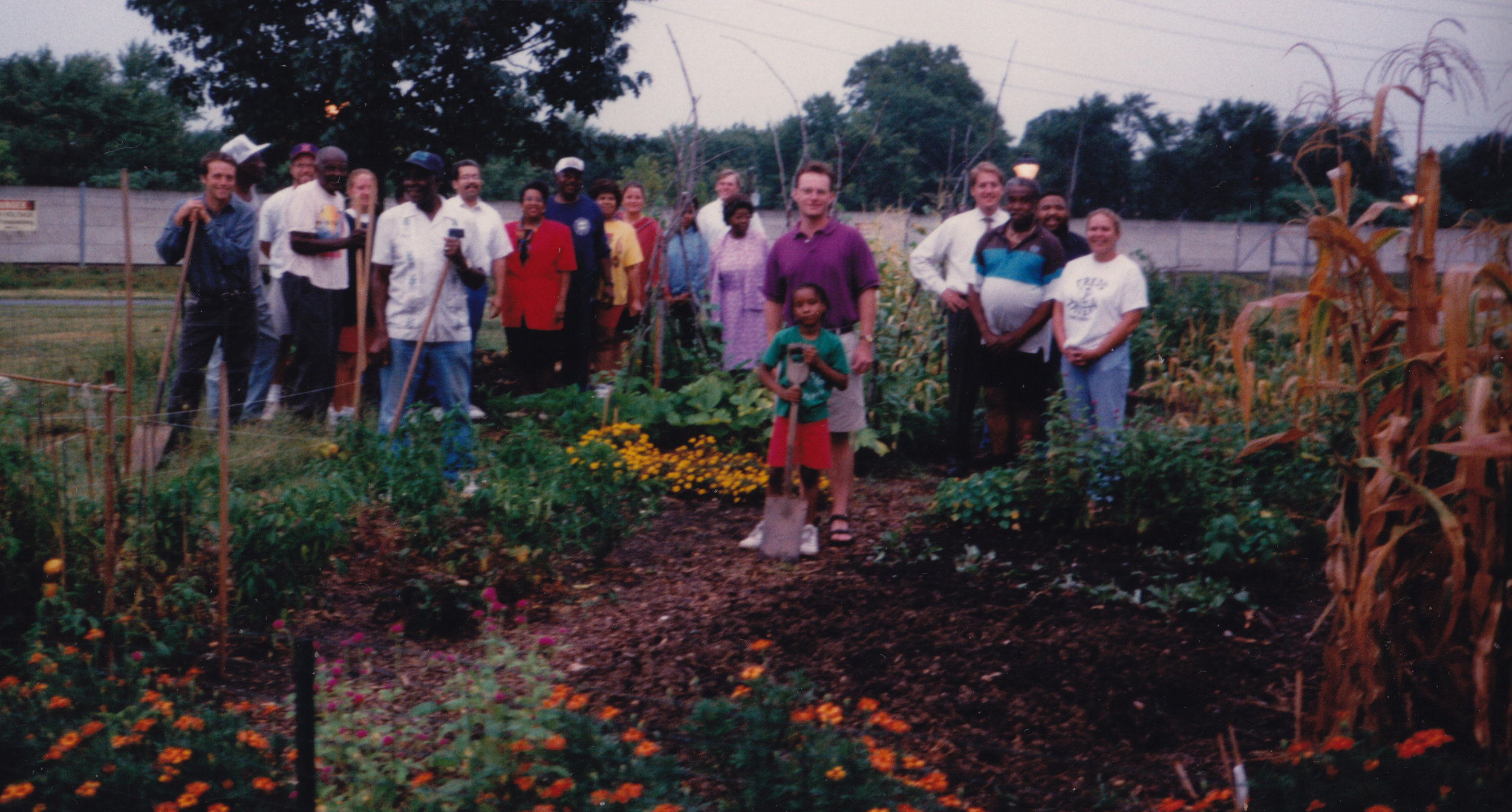 """David Wagoner, left, started a community garden while living in Alexandria, Va. The neighbors called him """"Farmer Dave"""" in 1997, and he's still at it, 20 years later."""
