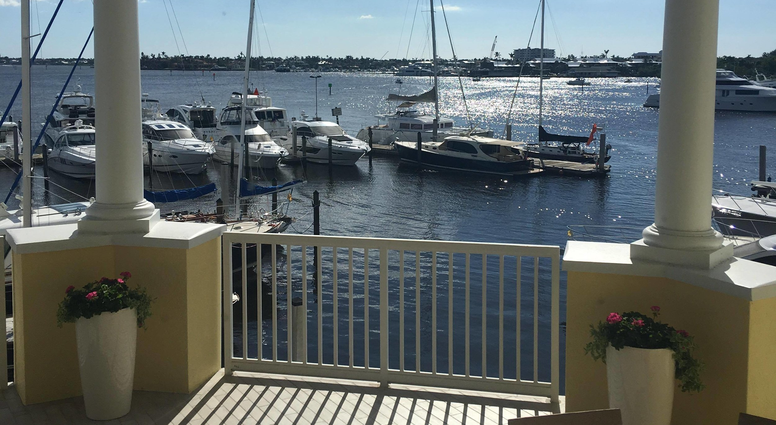 The view from the Naples Sailing & Yacht Club