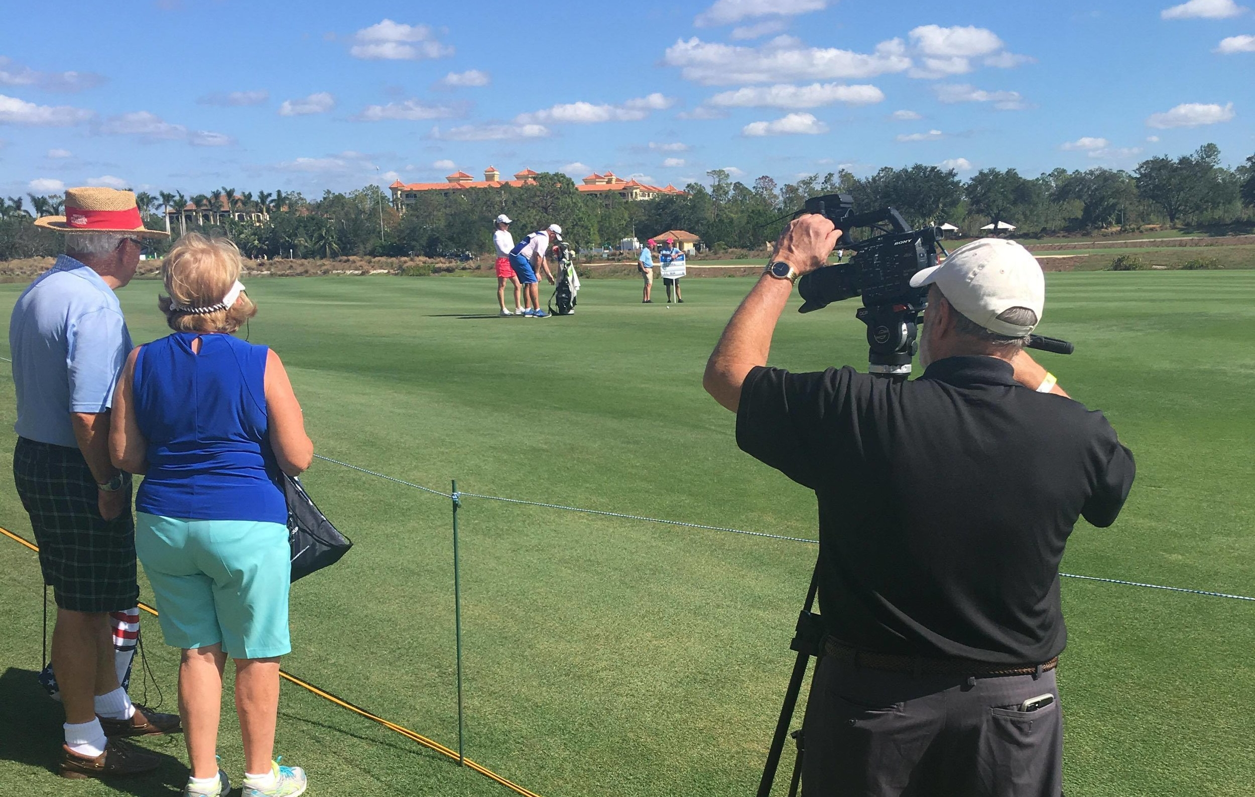 Larry Lancit shooting video of the CME Group Tour Championship