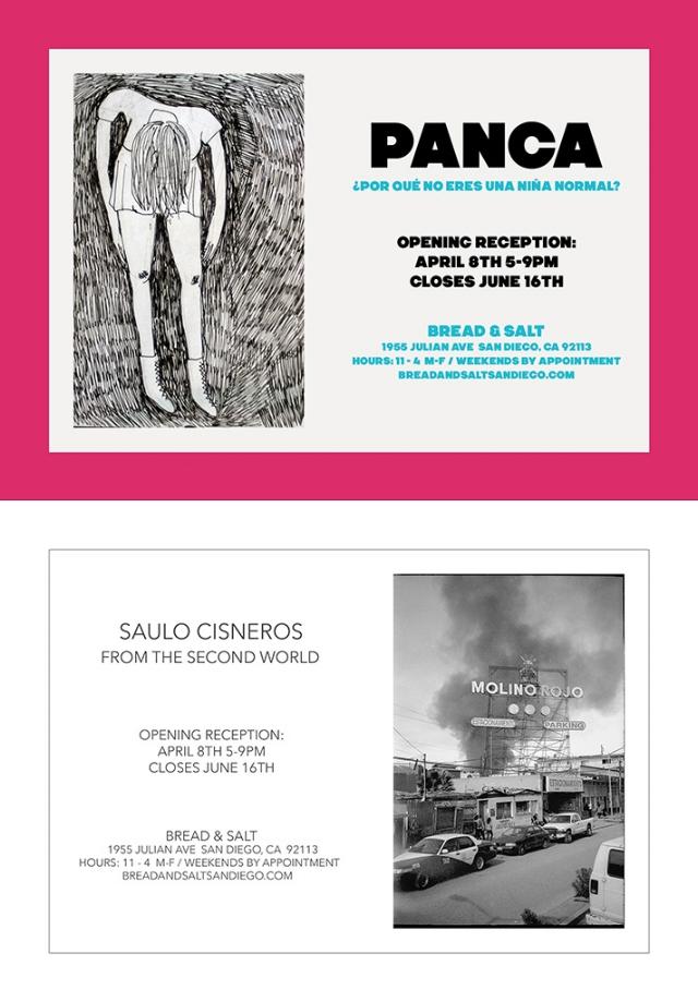 4/8/17 - 6/16/17    Panca -¿Por qué no eres una niña normal?    Saulo Cisneros - From The Second World