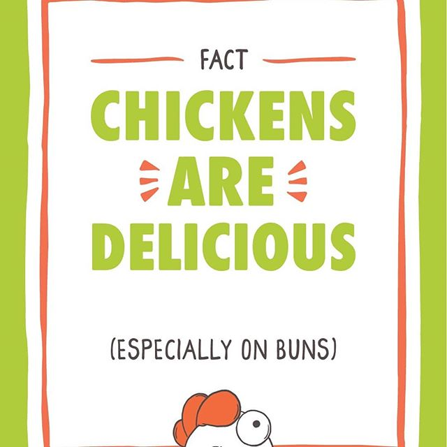 Swipe to see some fun facts from your favorite chicken, Sandwich the mascot of Holy Chicken!  He knows the real hard hitting scientific knowledge that you need to know.  #eat more #dinosaur