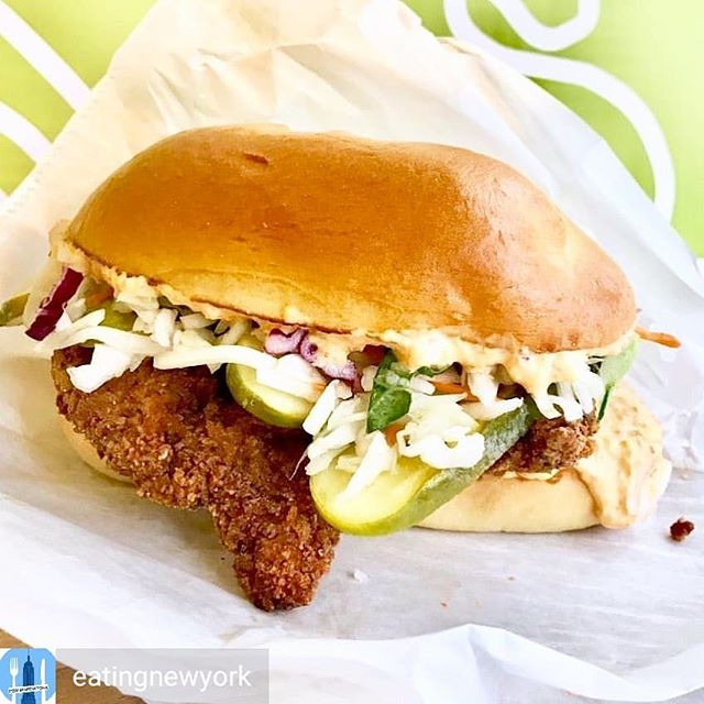 Thanks @eatingnewyork! -  Holy Chicken! This is without a doubt the greatest chicken sandwich in New York City right now. Make your way immediately to Morgan Spurlock's @holychickenusa pop-up at 18 west 23rd street, open daily 11-5. Go quickly, last day is 9/22! Tag all your chicken lovin' friends. #eatingnewyork