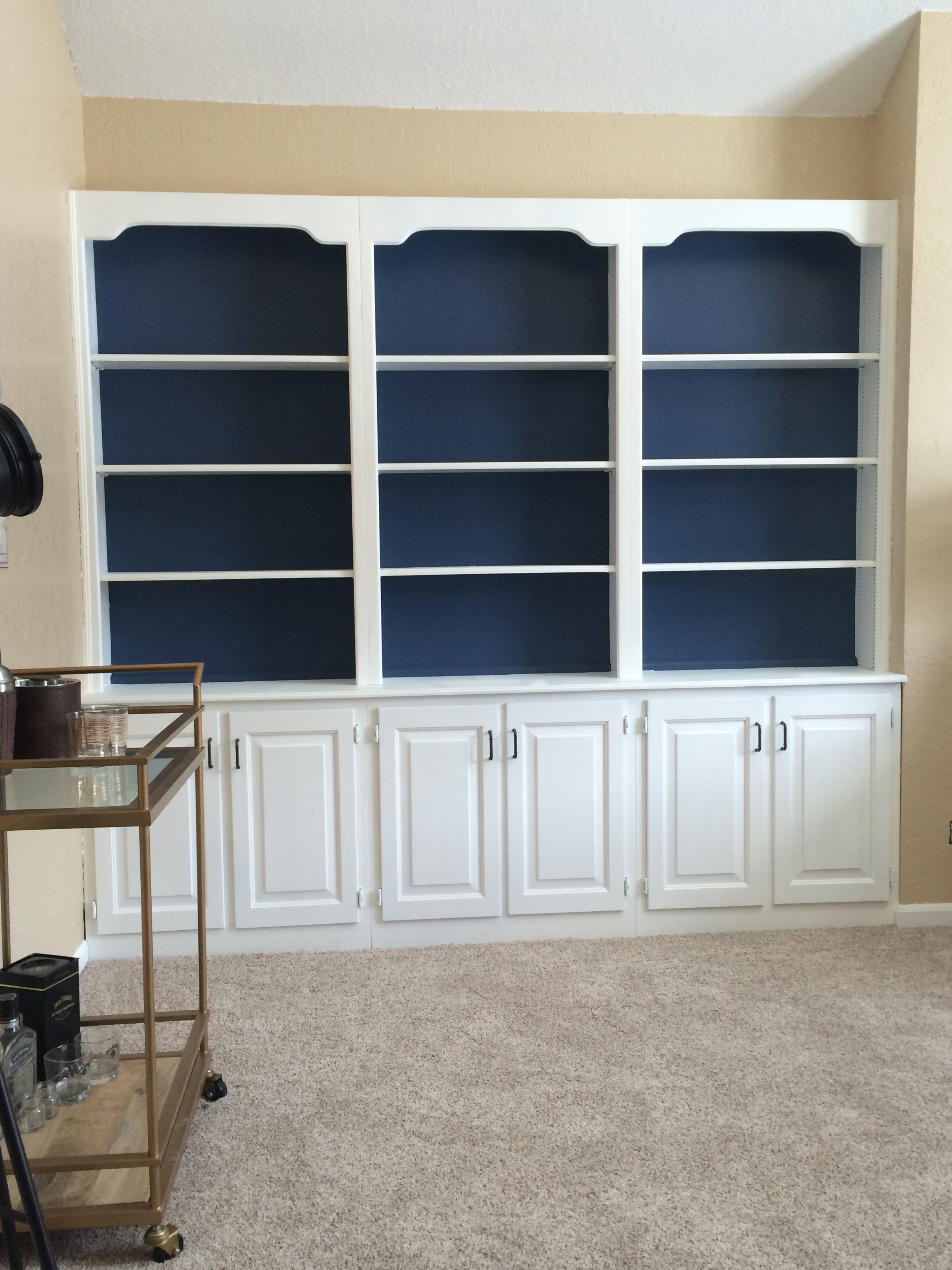 added blue to brian's shelves