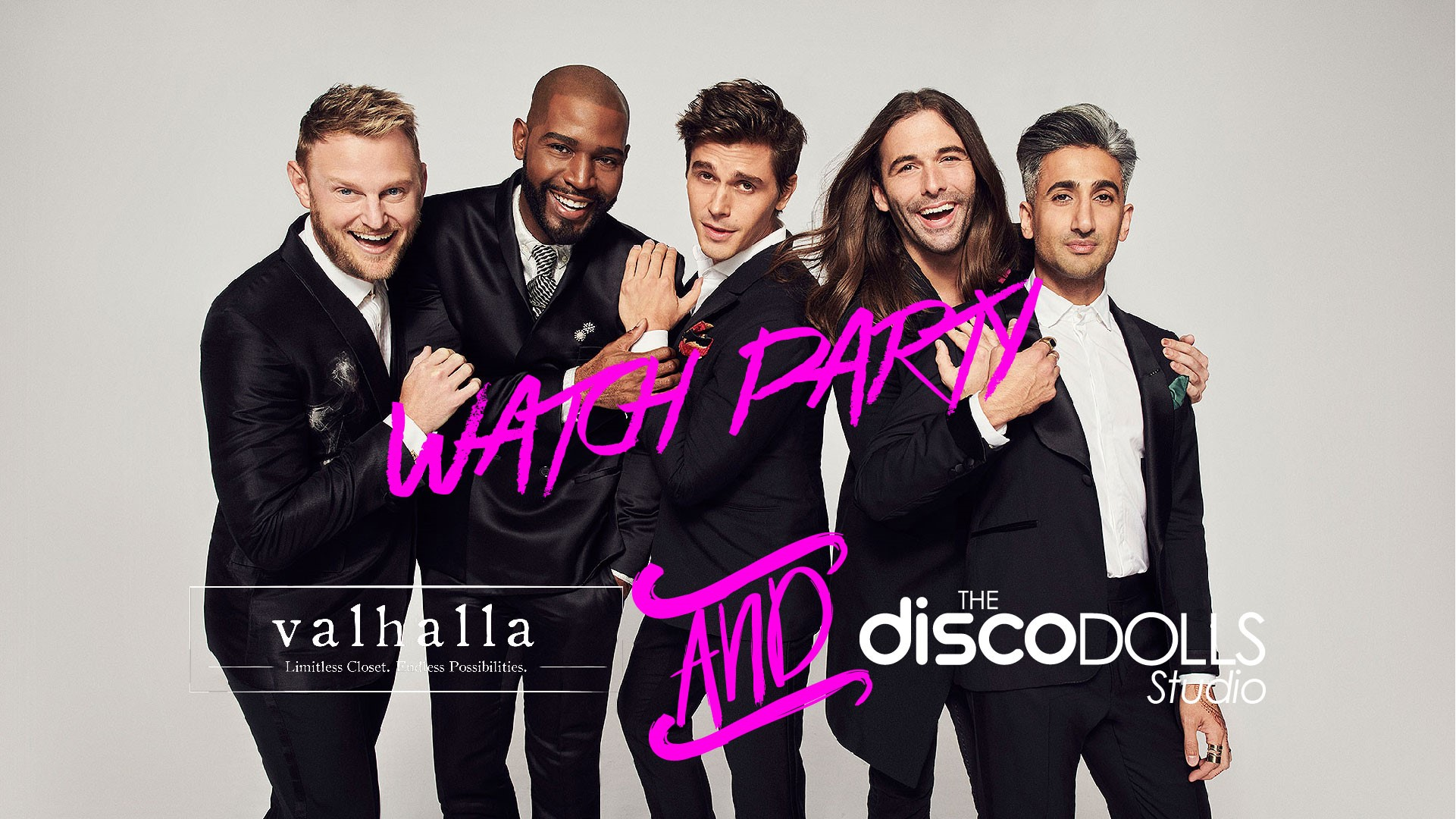 Queer Eye Watch Party at Disco Dolls Studio