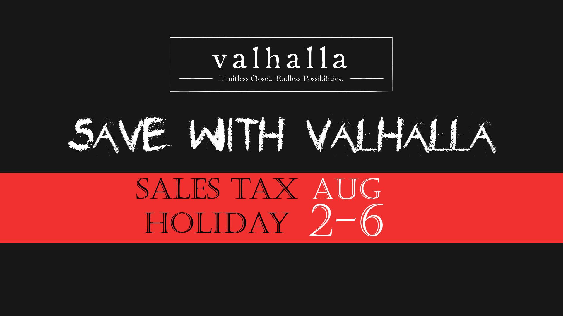 Valhalla tax free week