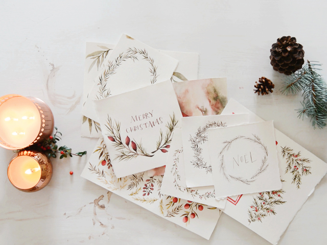 gorgeous wreaths by Wildfire Paper Co.