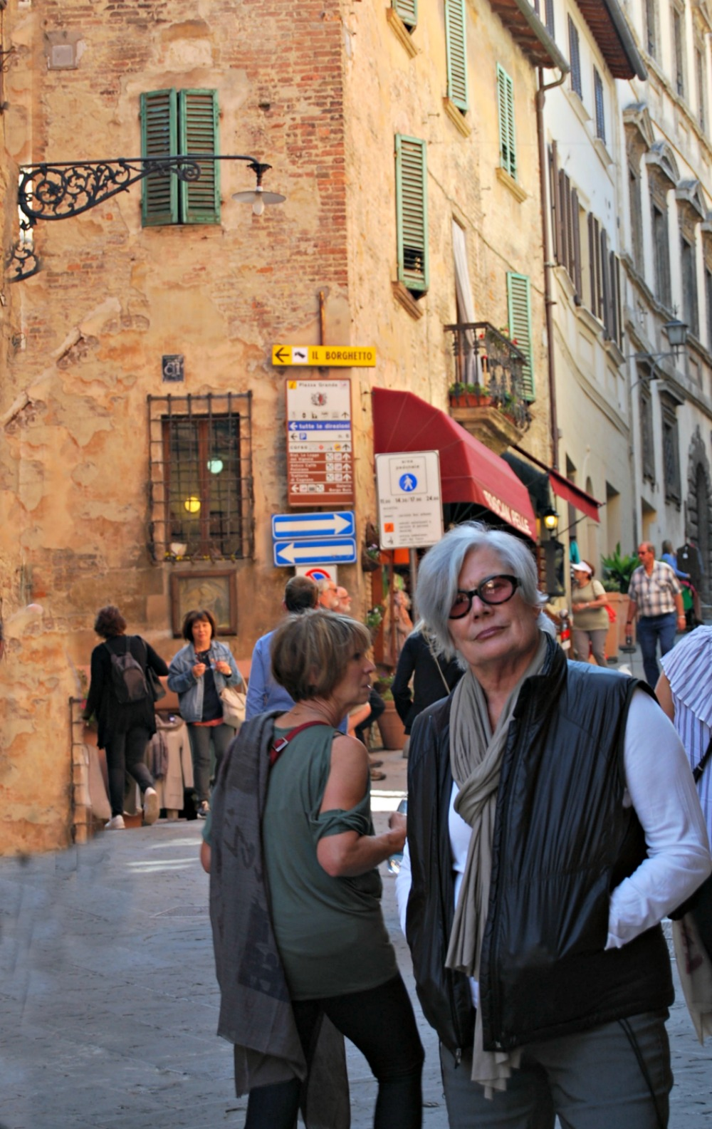 - Lots of tourist enjoying beautiful fall weather in Montepulciano