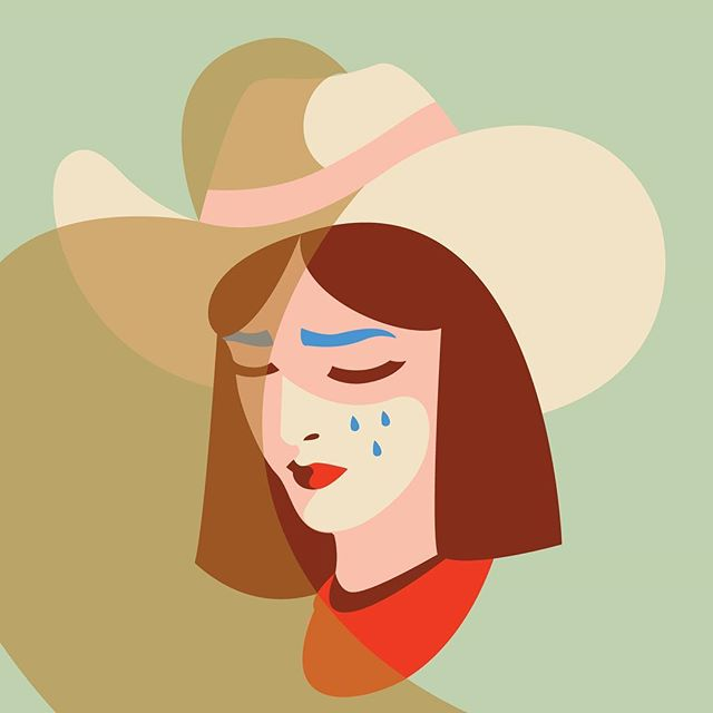 Doing totally fine, why do you ask?  #sketch #honkytonk #illustration #cowgirl #yeehaw