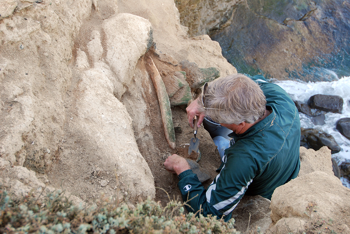 Archaeologist Jon Erlandson discovered the cache, a redwood box, in 2009