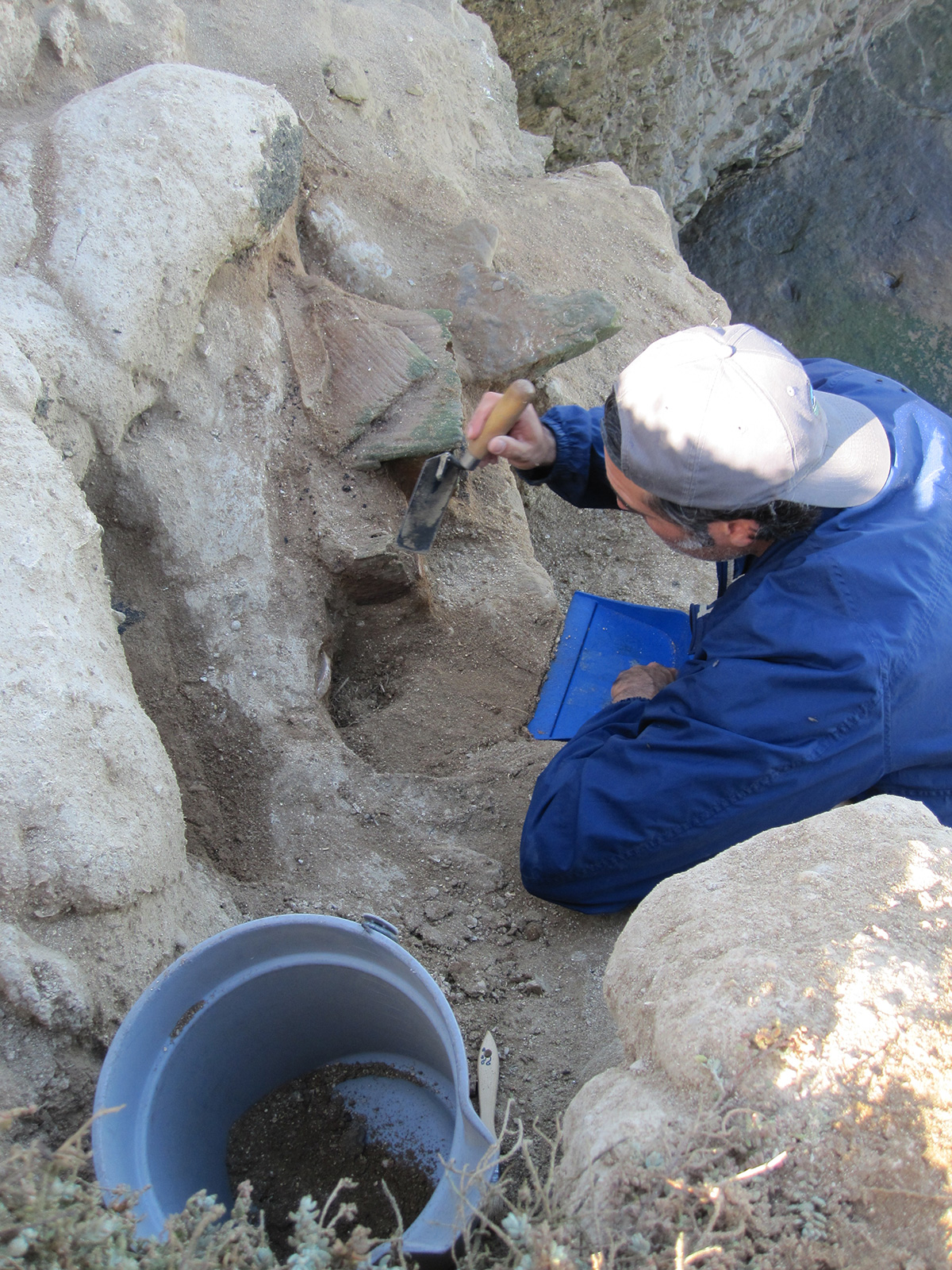 Professor Rene Vellanoweth assisted in the discovery and excavation of materials believed to have belonged to the Lone Woman