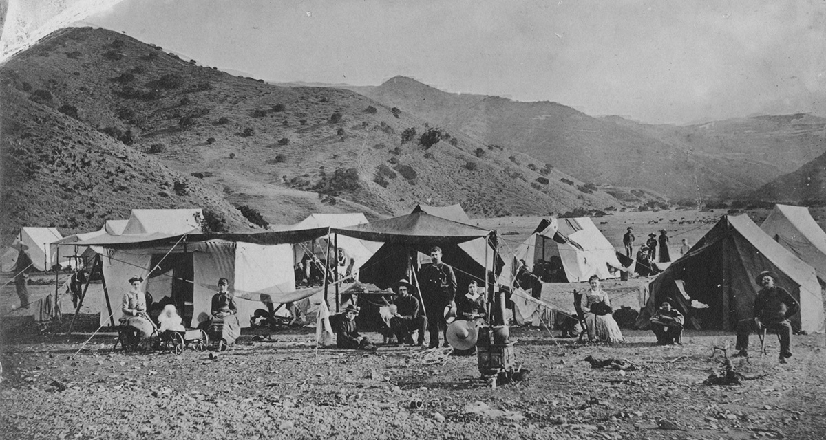 Tent camps preceded the building of hotels and restaurants