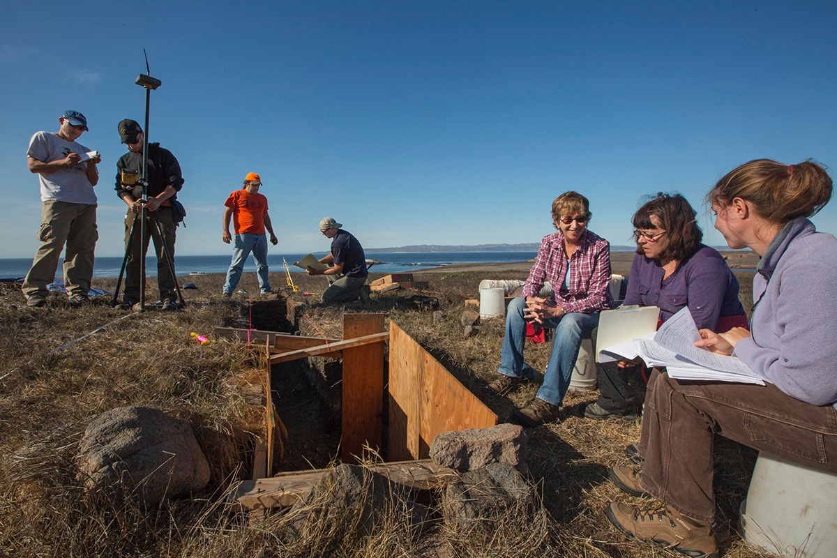 Archaeologists at Santa Cruz Island's El Monton site