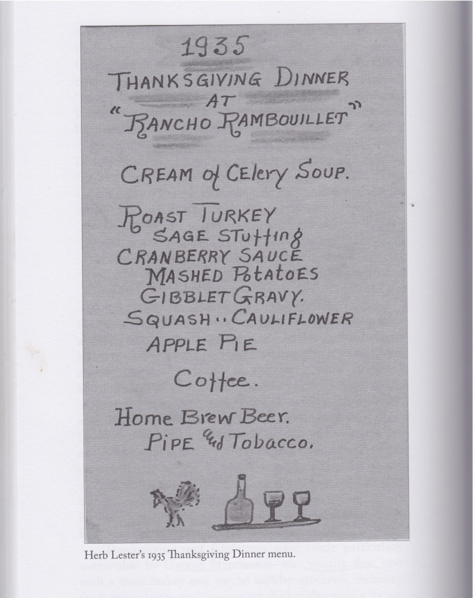 Herb Lester was meticulous in many respects, including creating the menu for Thanksgiving dinner