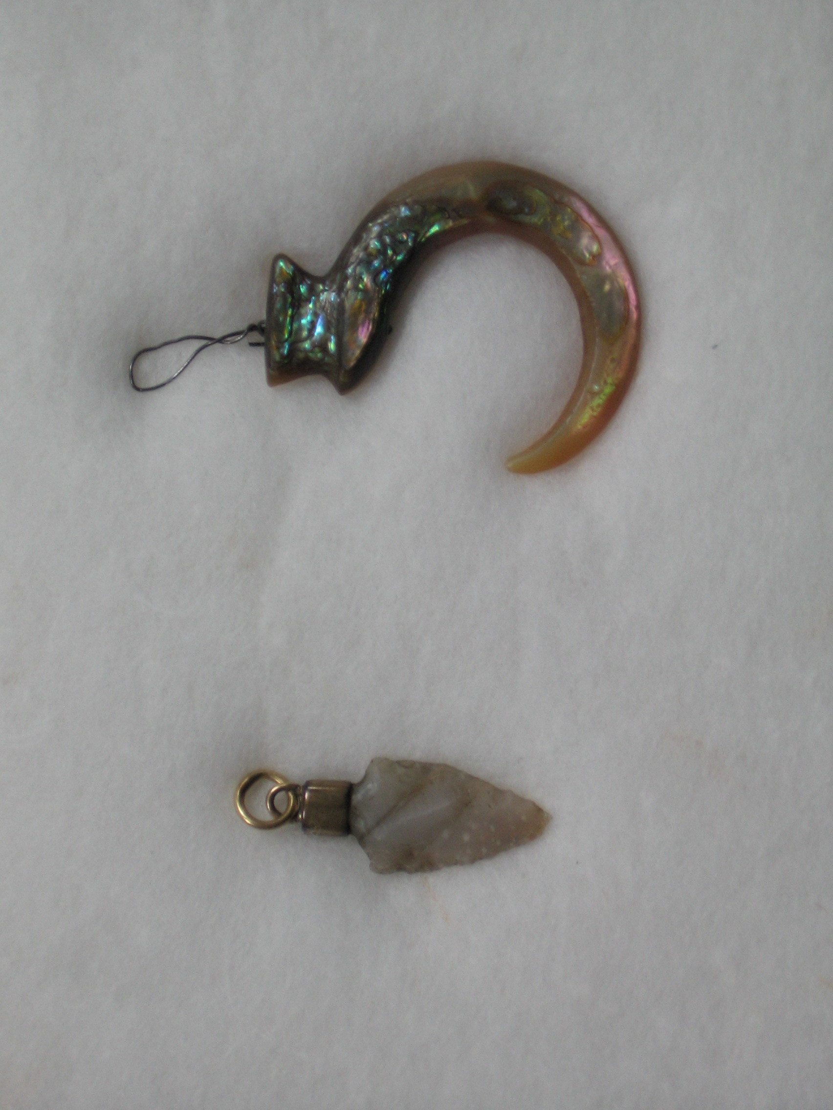 Abalone Fish Hook and Arrowhead