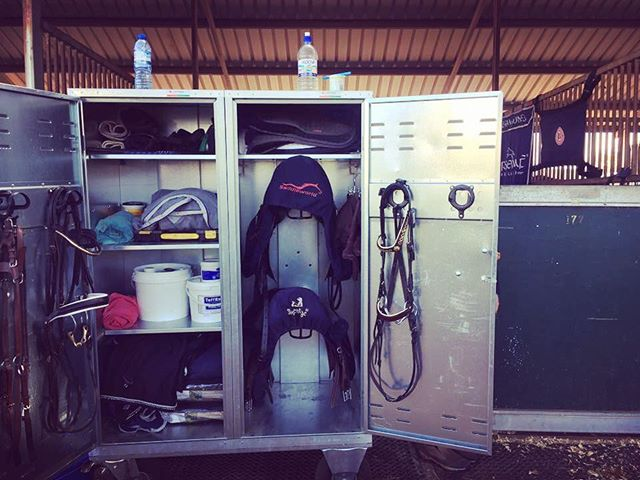 Our 'Competition Classic' trunk being put to fabulous use by Megan Jones @themjet at the @mi3de in Werribee this weekend! Make sure you visit Brett at stand #8-10 to view all our products from Germany or visit www.flaneurequine.com.au #melbourneinternational3de #flaneurequine #competitioncabinet #qualitystableproducts #eventing #equestrianaustralia