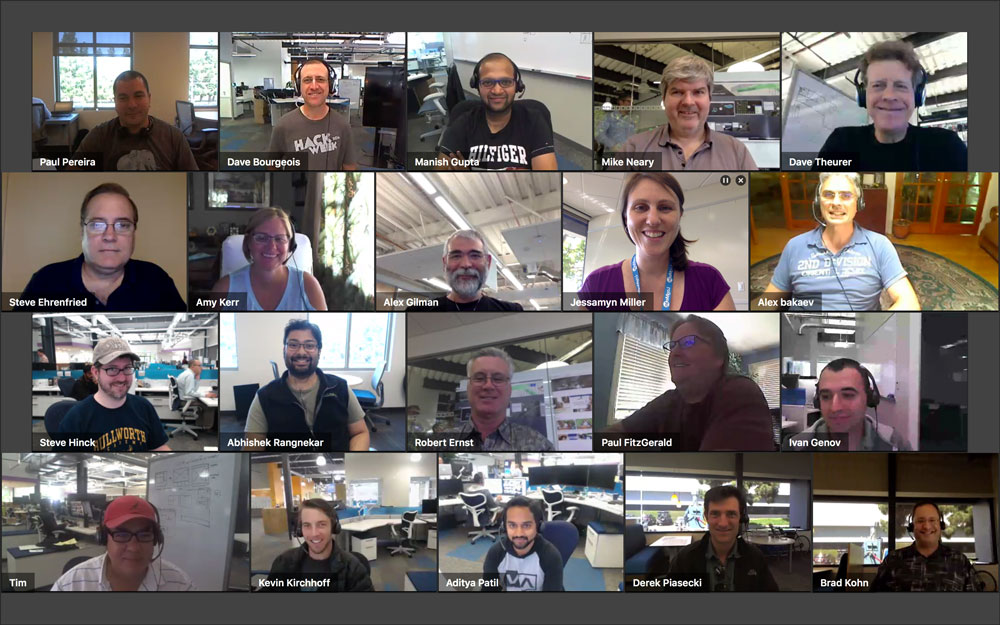 Customers told us how important it was to see their entire team, especially when distributed or remote. This is a photo of the team who built this feature.