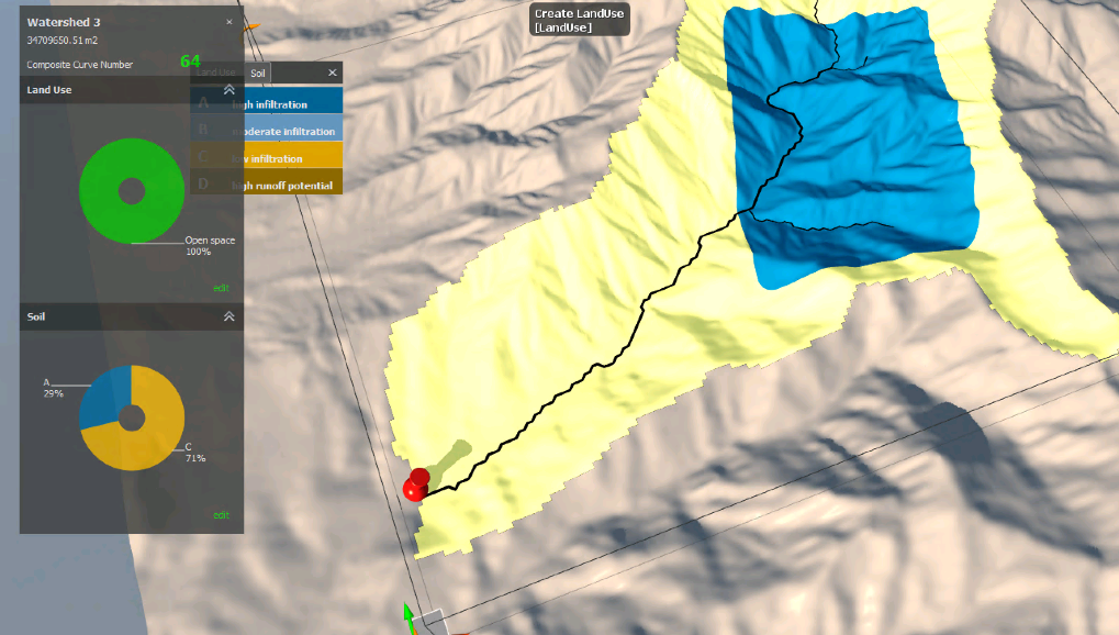 Soil data is added to the terrain