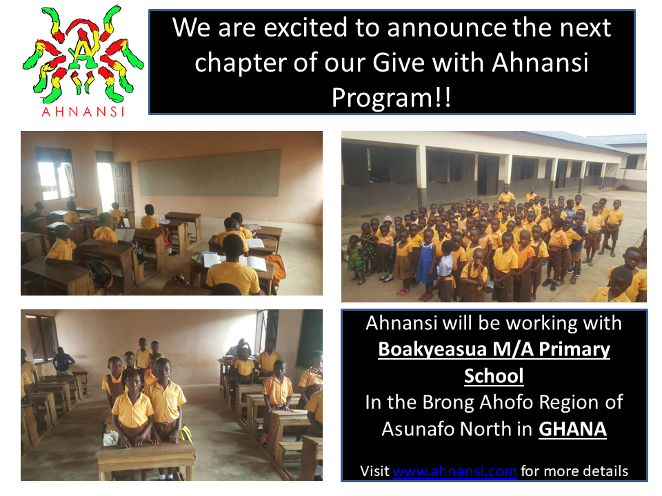 This year we want to focus on youth of Ghana and we are excited to start this new Journey with the Boakyeasua M/A primary school. Our Organization will be collecting donations to purchase school supplies for the students at this School. -